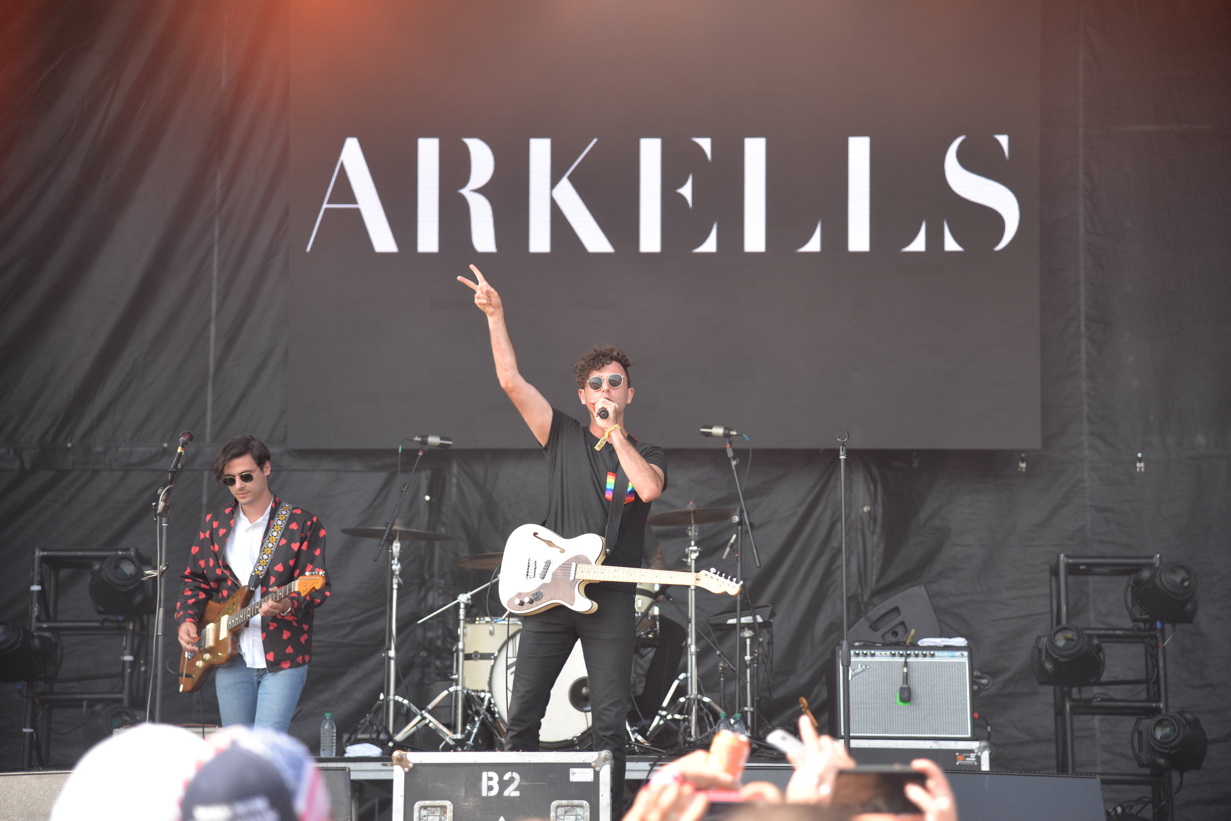 Arkells performing at The Meadows Music and Art Festival in Queens.  (Amar Batra/The Daily Campus)