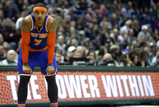The New York Knicks recently traded Carmelo Anthony to the Oklahoma City Thunder. (AP Photo/Aaron Gash, File)
