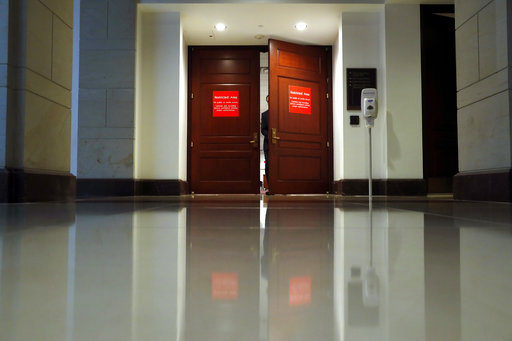 The House Intelligence Committee meets in a secure room and behind closed doors on Capitol Hill, Thursday, Sept. 28, 2017 in Washington. Officials from Twitter are on Capitol Hill for meetings as part of the House and Senate investigations into Russian interference in the 2016 elections. (AP Photo/Alex Brandon)