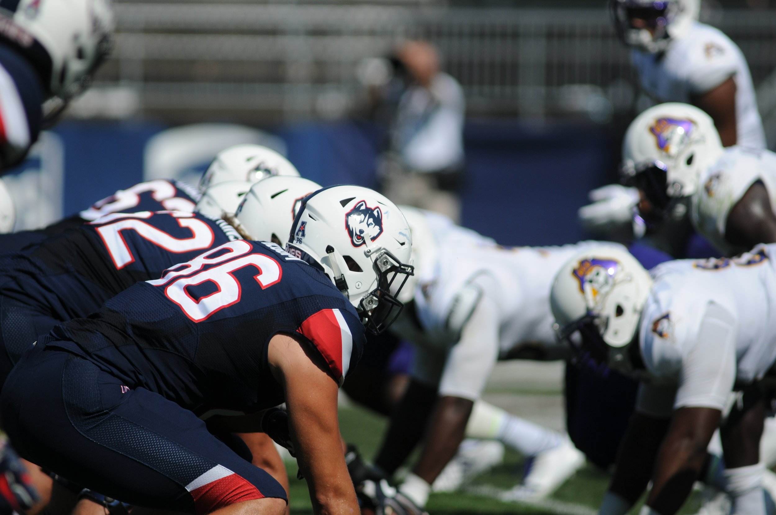 The Huskies and the Mustangs will kickoff Saturday at 4 p.m.; the game will be broadcast on ESPNEWS.(Jon Sammis/The Daily Campus)