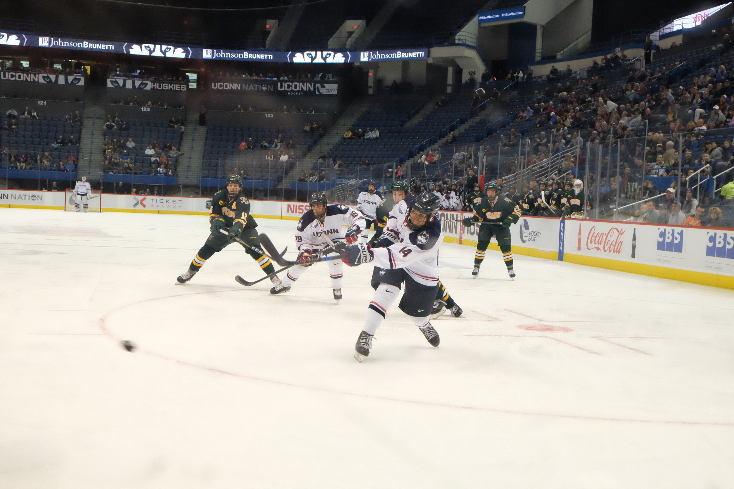 The Huskies of Storrs and the Huskies of Boston will renew their rivalry at the XL Center at 7:05 p.m. (Jon Sammis/The Daily Campus)