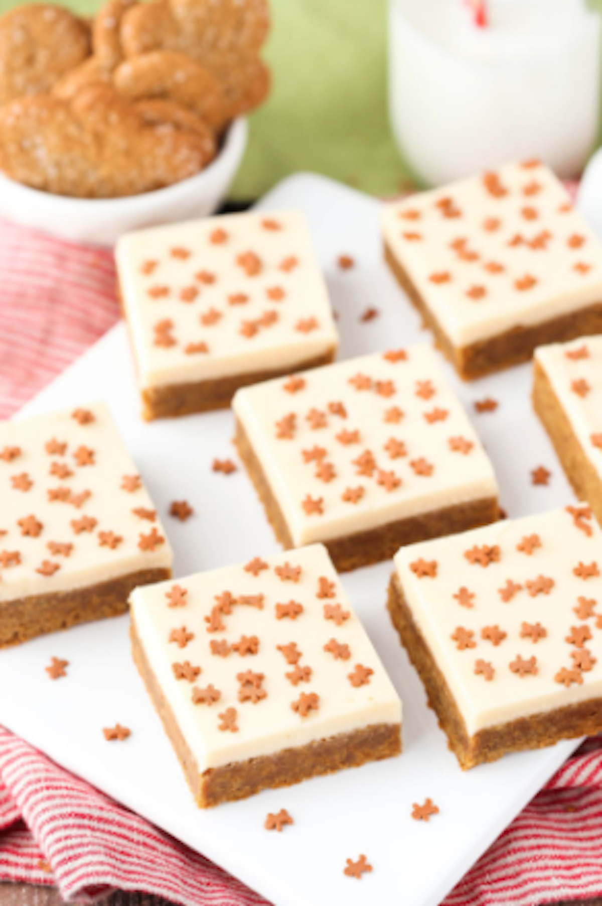 This week on Melissa's Menu is caramel-gingerbread cookie bars with caramel frosting. (Photo courtesy of Delish.com)