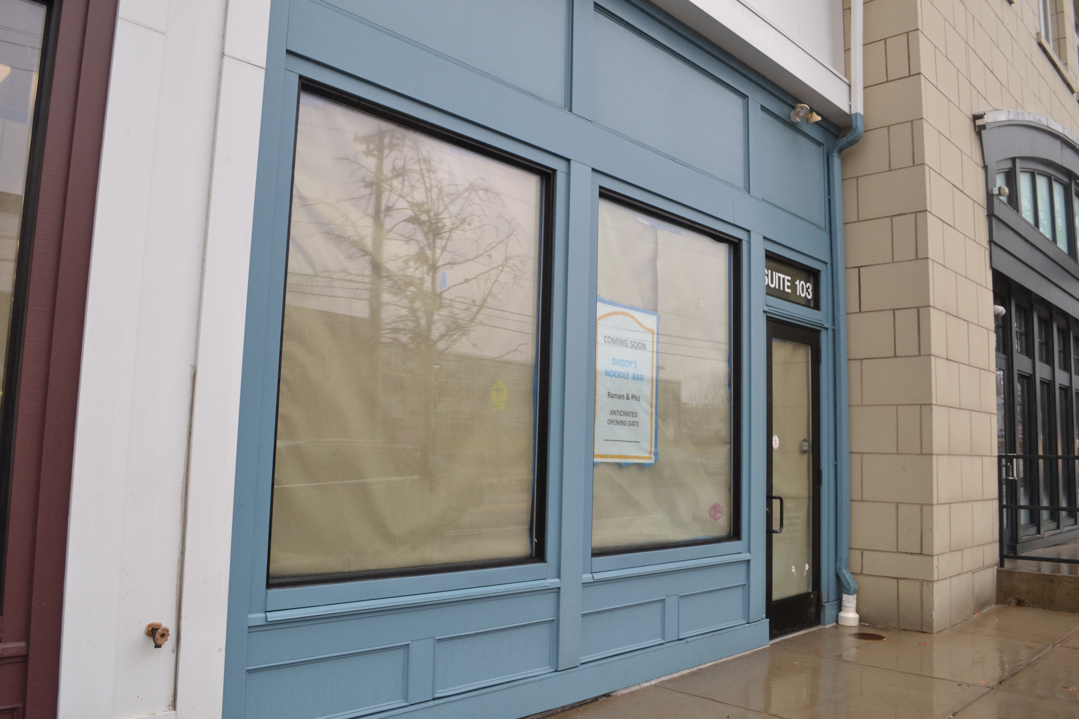 Daddy's Noodle Shop is located in Storrs Center next to 7-11 where FroYo World used to be. Snow and other delays have setback the opening of the restaurant. (Olivia Stenger/The Daily Campus)