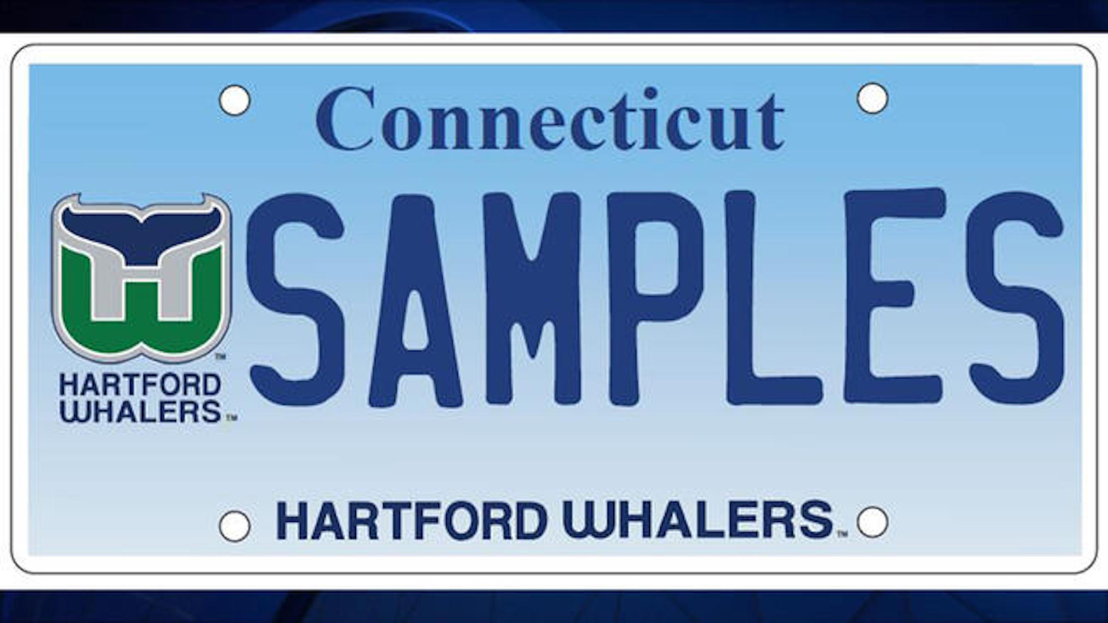 A sample of the license plate Connecticut residents may now purchase to support Connecticut Children's Medical Center (Sample courtesy of Connecticut Children's Medical Center).