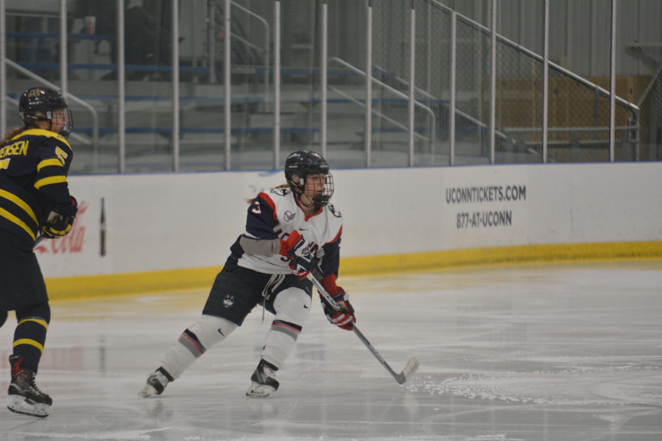 The Women's Hockey team made an impressive run to the Hockey East Tournament final before losing to Northeastern 2-1 (Jon Sammis/The Daily Campus)