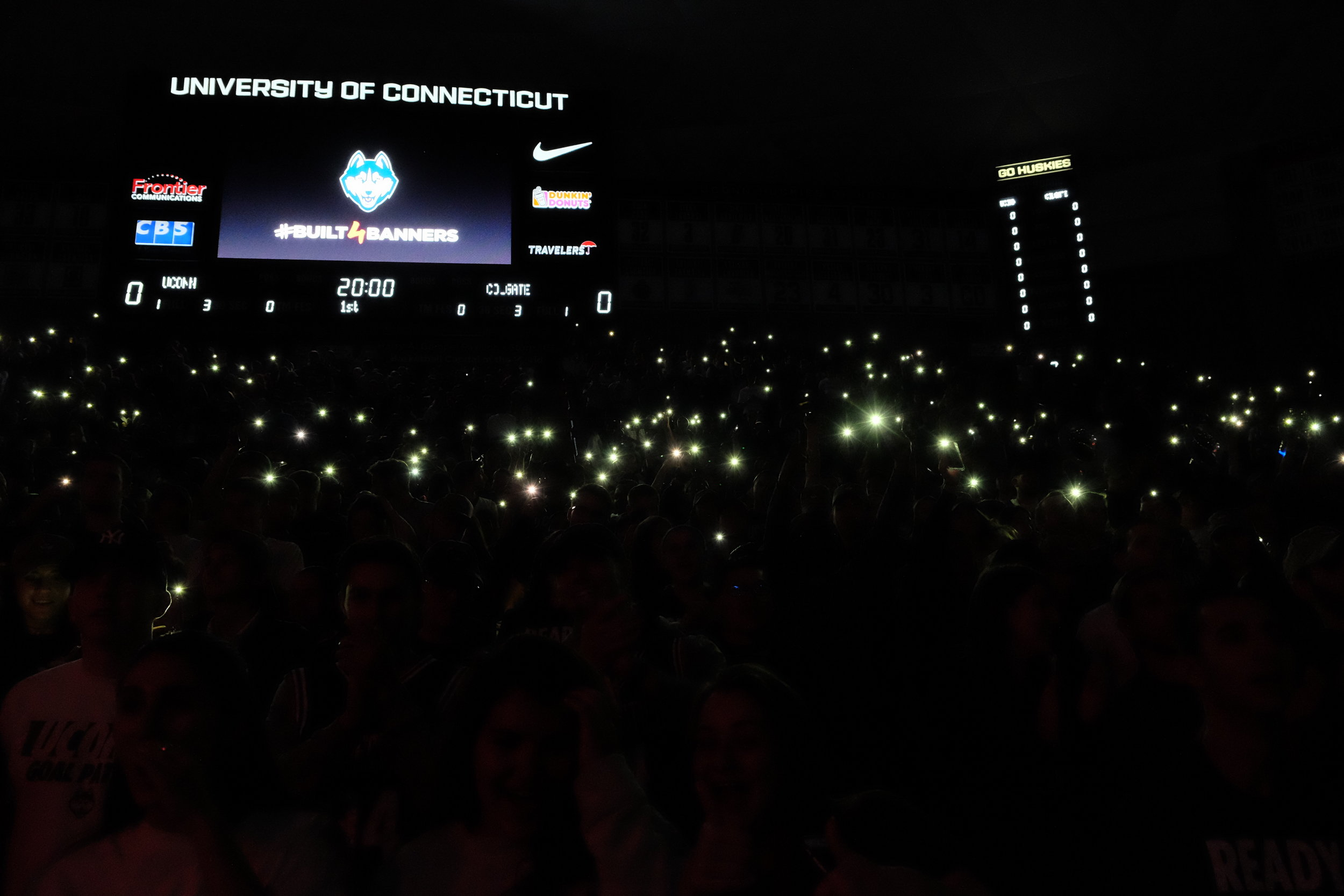 Tradition is huge, and with every game comes a flurry of cell phone lights to introduce the UConn Huskies to the court.
