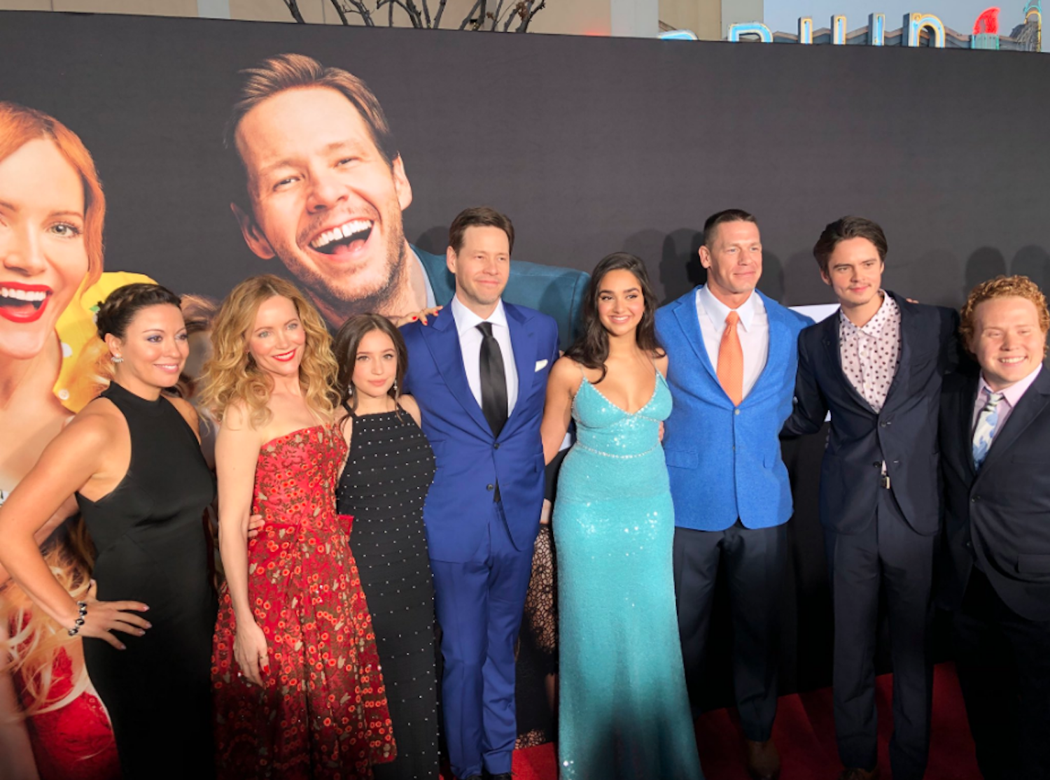 """The cast of """"Blockers"""" at a red carpet event. The new movie premiered on Friday, April 6, 2018. (Screenshot courtesy of  """"Blockers"""" Twitter )"""