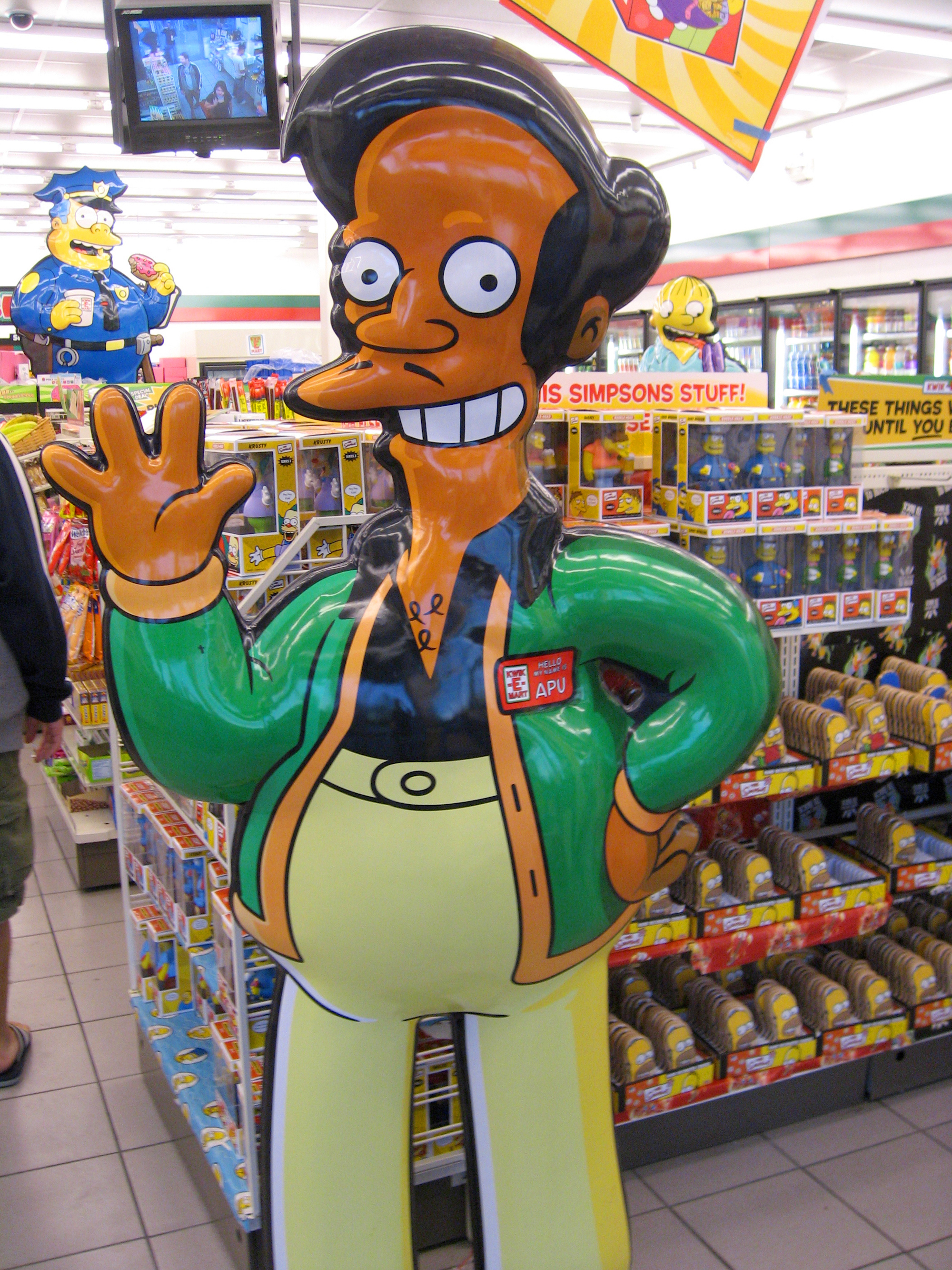 """Apu Nahasapeemapetilon is an Indian-American character on the show """"The Simpsons."""" The show aired an episode last week on April 8 in response to a documentary from 2017 that criticized the offensive character.( Victor Lee /Creative Commons)"""