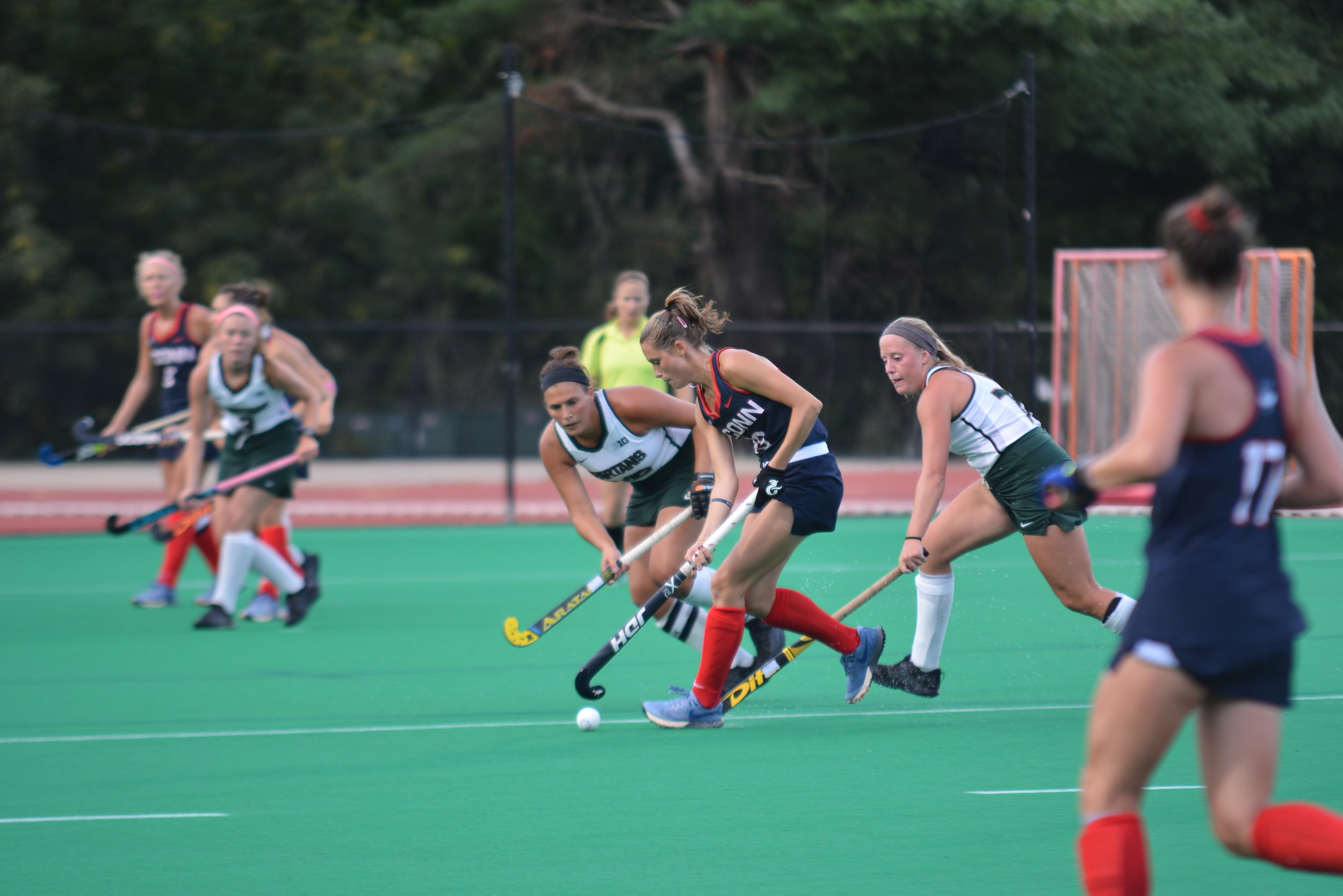The UConn Huskies took down the Michigan State Spartans 5-0 last Friday. They look to continue their winning streak with their next home game against Quinnipiac on 9/15. (File Photo/The Daily Campus)
