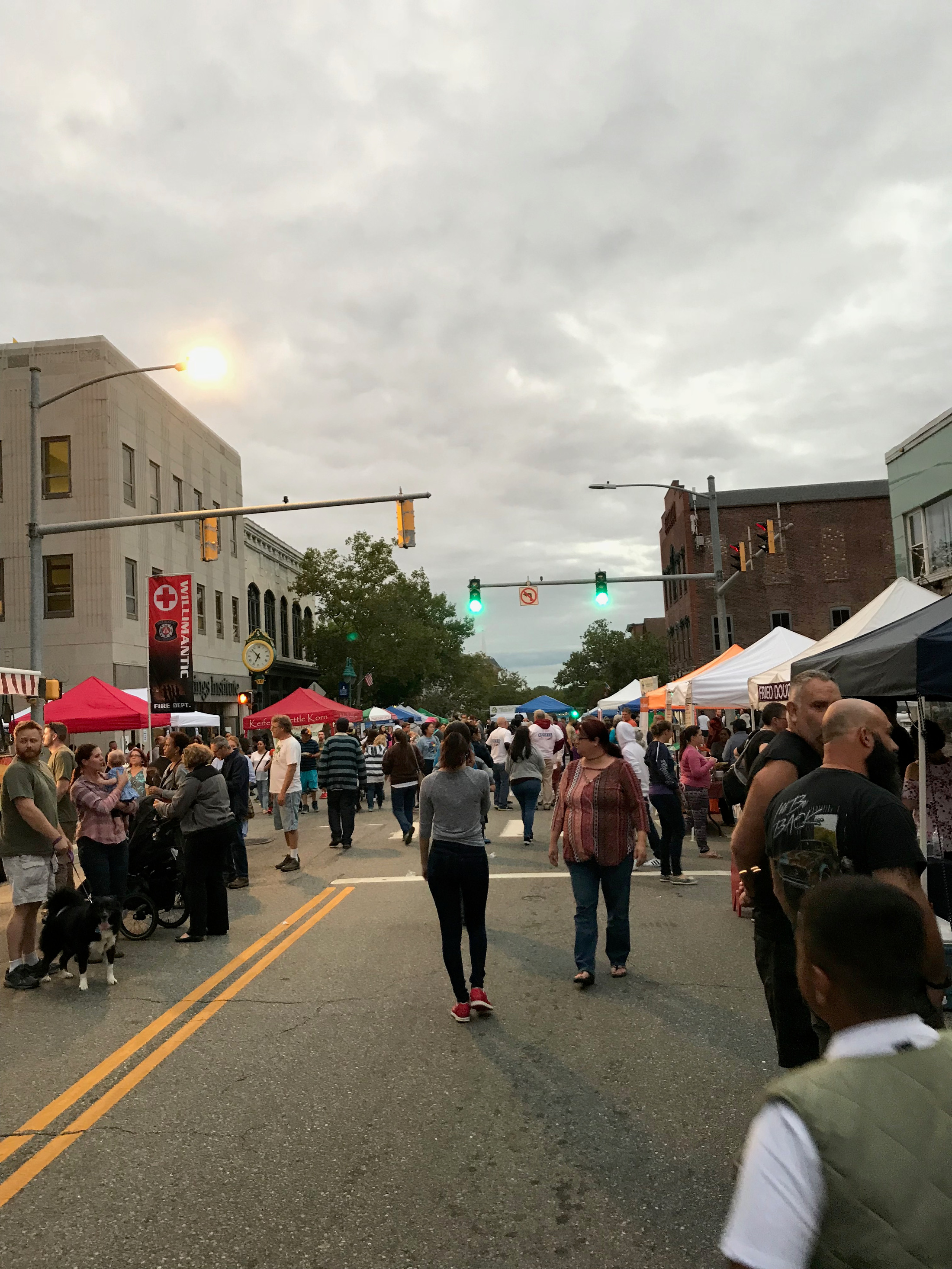 The diverse crowd flowed in and out of the countless stalls, comprised of UConn and ECSU students, local residents, dogs - you name it. (Daniel Cohn/The Daily Campus)