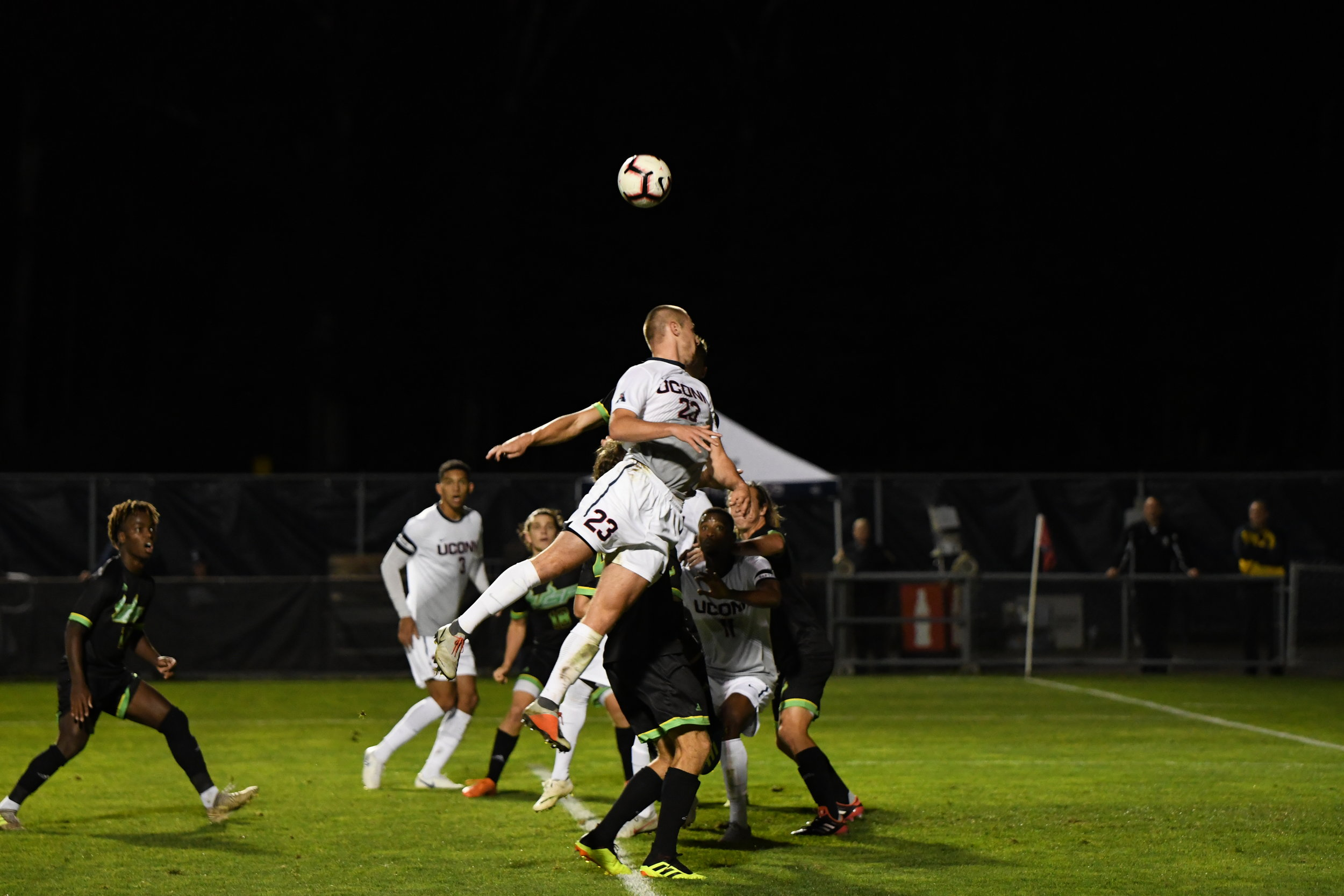 UConn Men's Soccer ties 2-2 in double overtime against USF on Sept. 23 at Morrone Stadium. Dayonn Harris and Abdou Mbacke Thiam scored the two goals for UConn. Photo by Nicholas Hampton, Associate Photo Editor/The Daily Campus