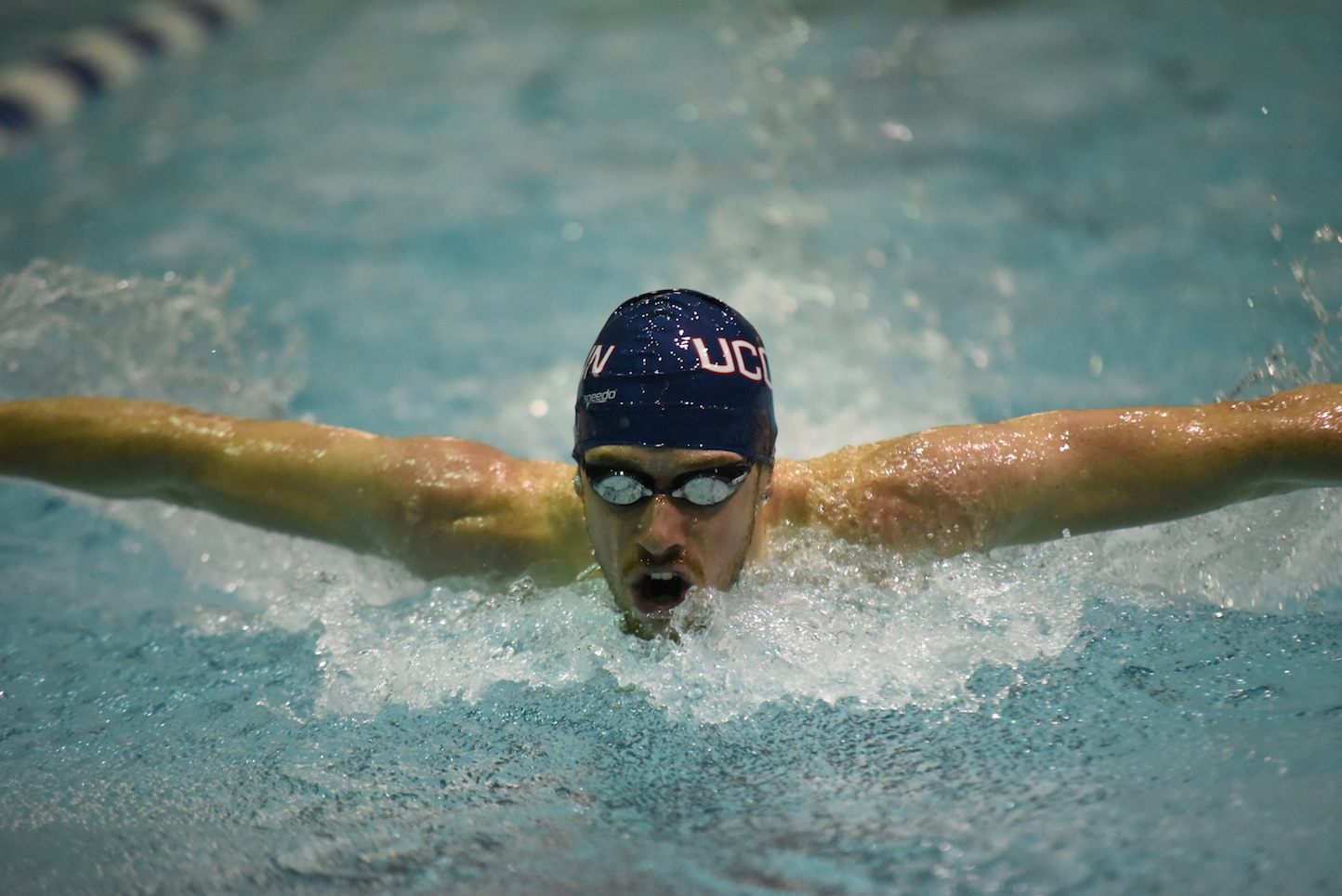 The Huskies dropped the first meet of the season, losing to LSU and Navy. (Charlotte Lao/The Daily Campus)