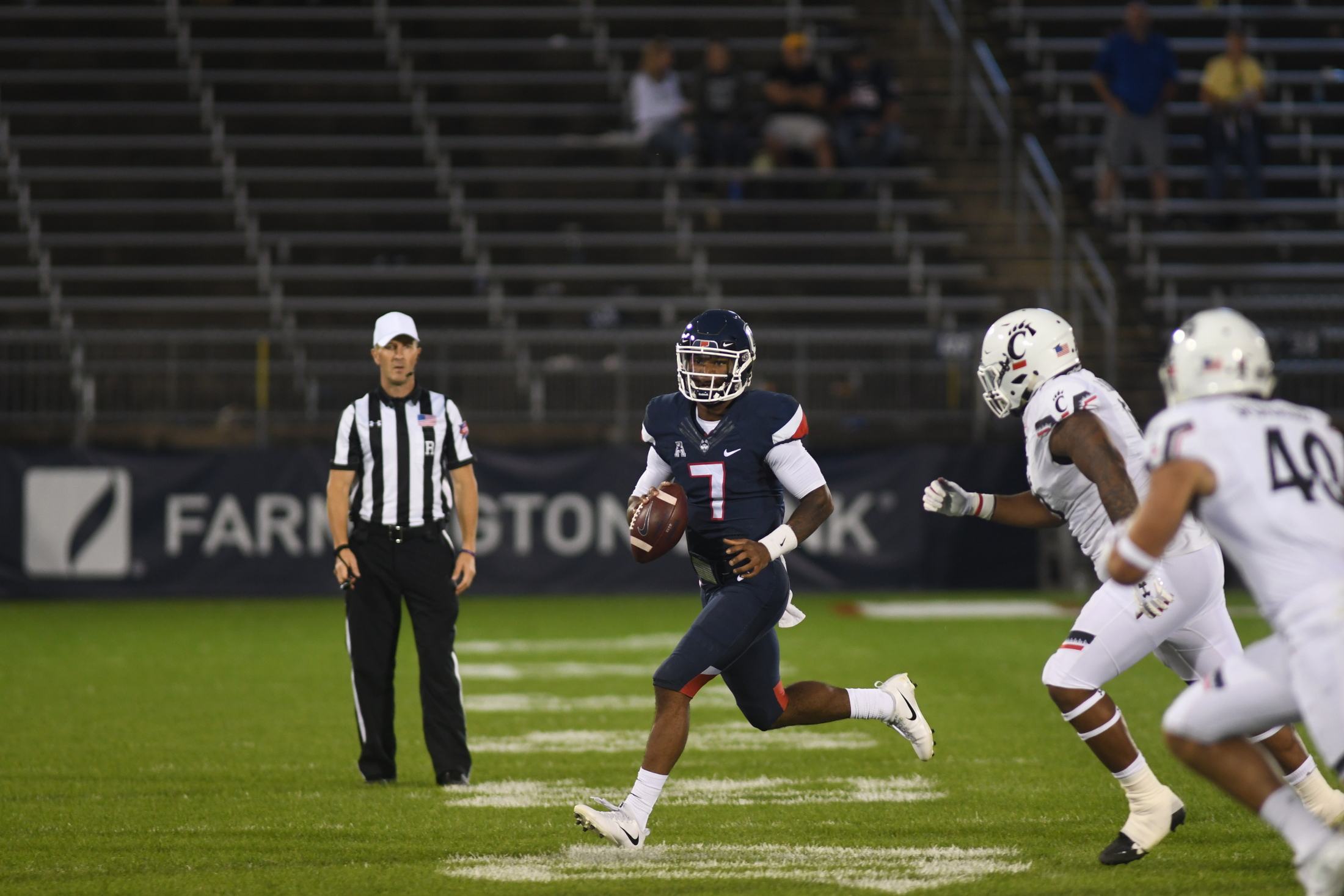 UConn plays against Cincinnati Saturday afternoon at Rentschler Field. The team was defeated 49-7. There next home game will be Saturday October 27 (Nicholas Hampton/The Daily Campus)