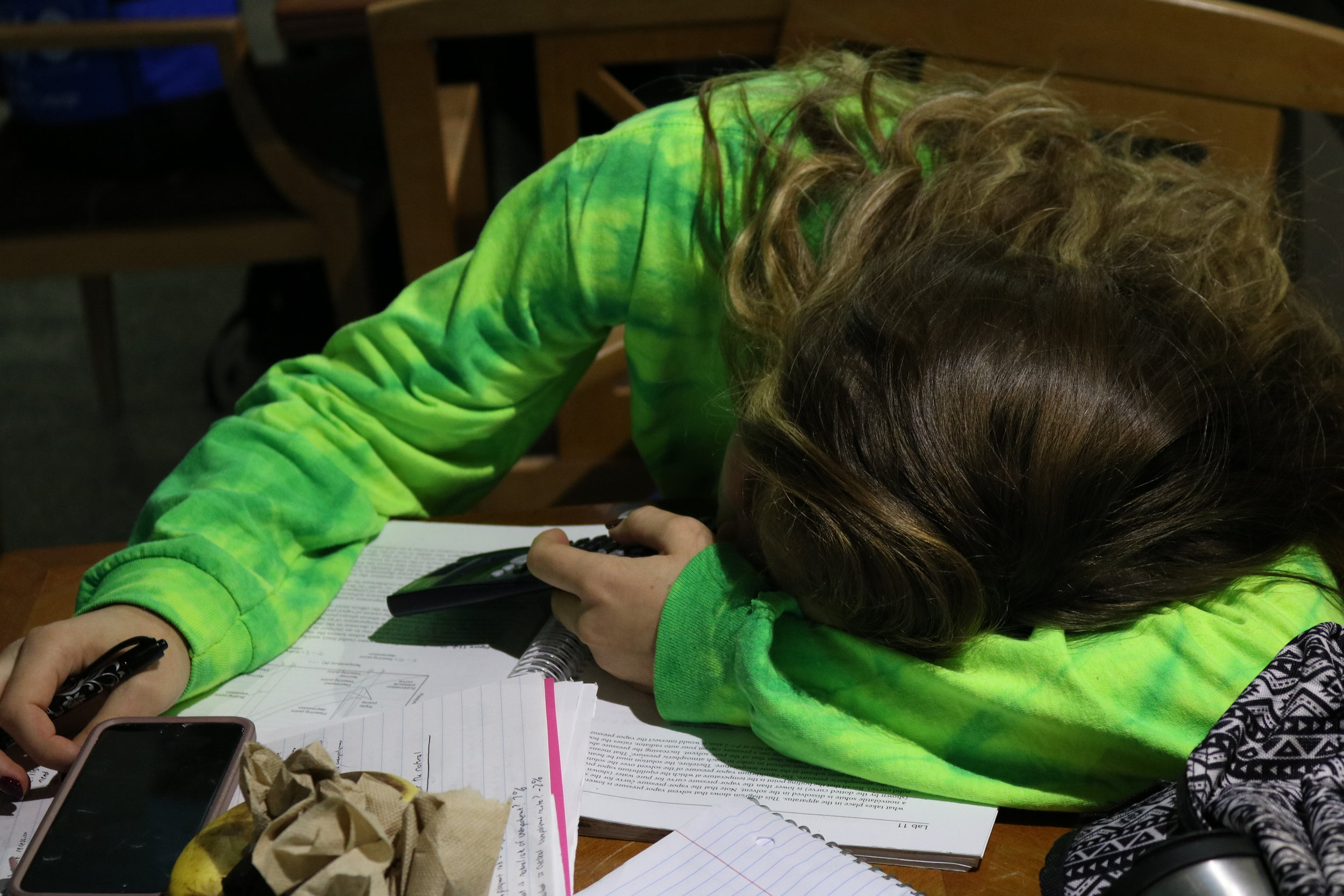 When attempting to sleep, a persistent busy mind, tense muscles and a racing heart are all physical indicators that a person may be too stressed sleep soundly, according to the National Sleep Foundation. (Vanita Patel/The Daily Campus)