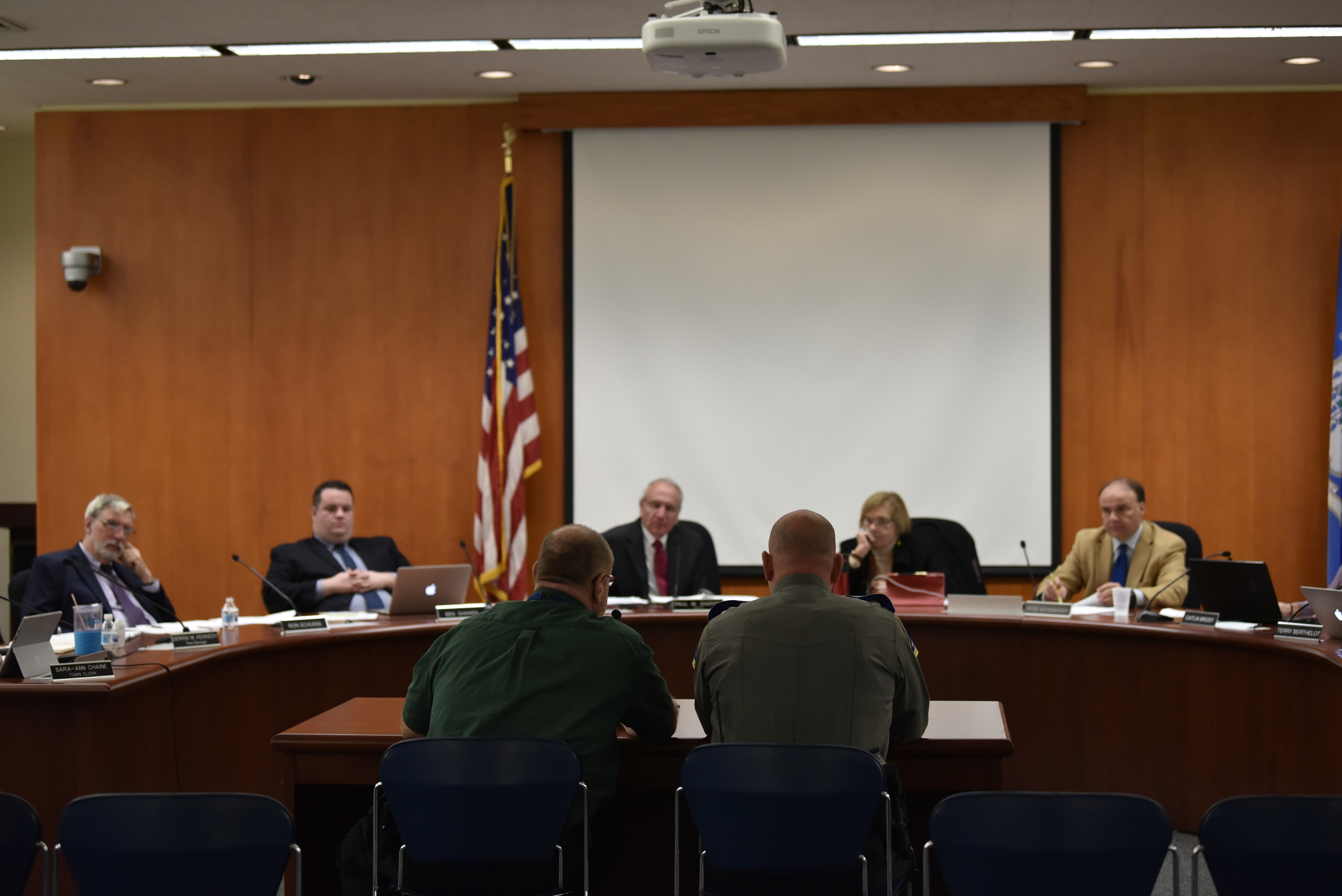 On Monday October 22, Mansfield town council meeting was held in Audrey P. Beck Municipal Building. Town Councils met and discussed varies of old, new business and petitions (Eric Yang/The Daily Campus)
