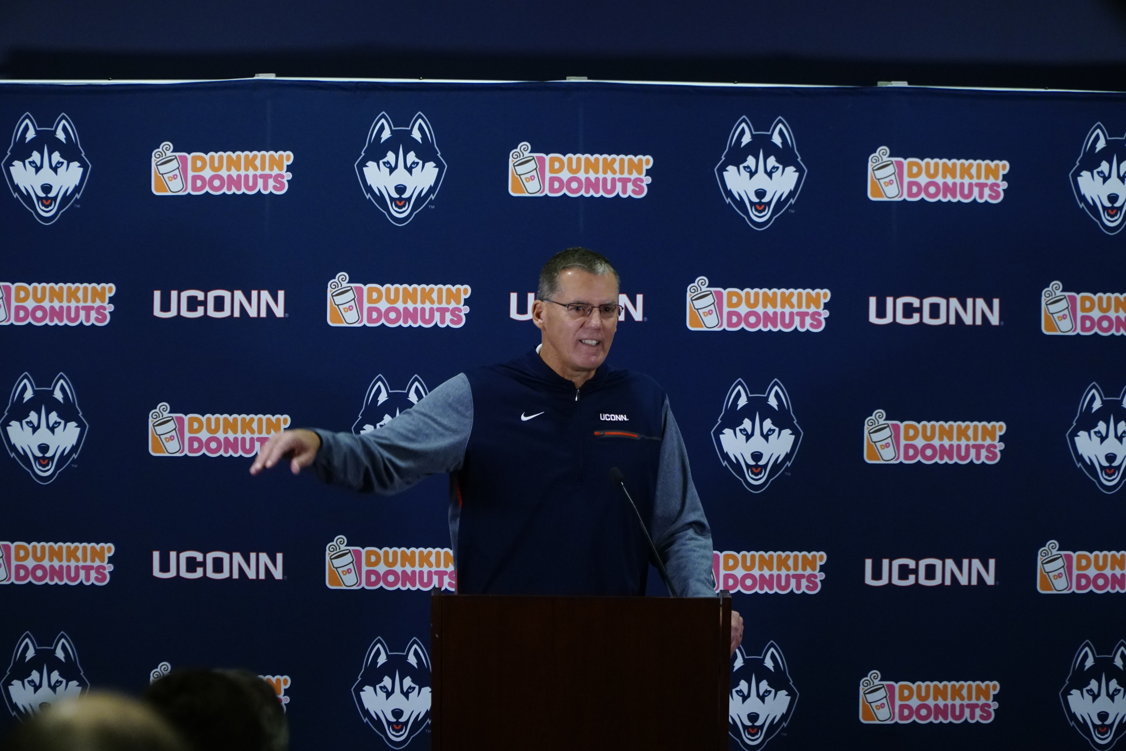 Randy Edsall is struggling to win on the field but he and he son Corey picked up a win in the legal system the other day (Eric Wang/The Daily Campus)