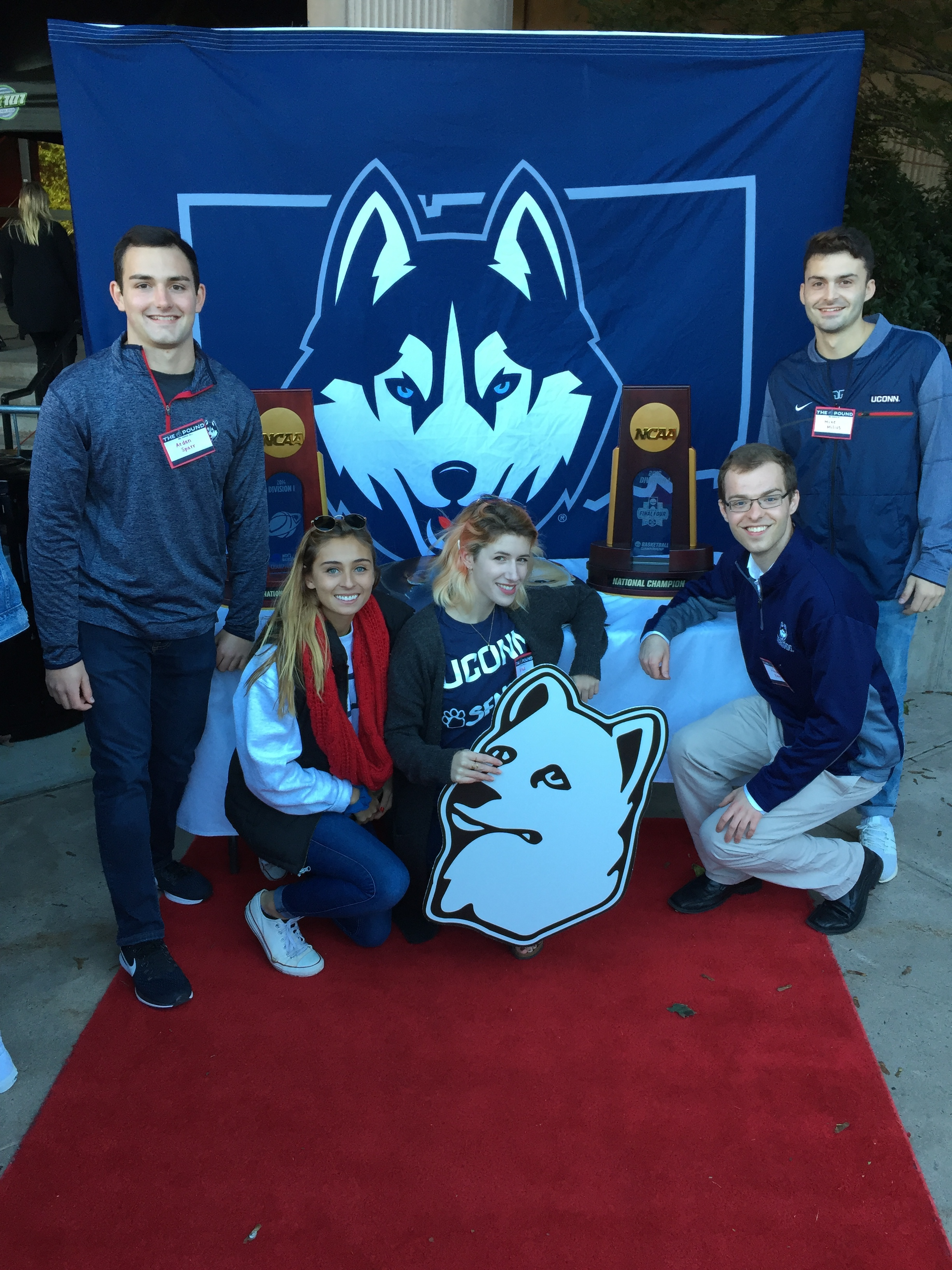 The creative team behind The Pound, a new social media app for UConn's student-athletes. (Photo supplied by writer.)