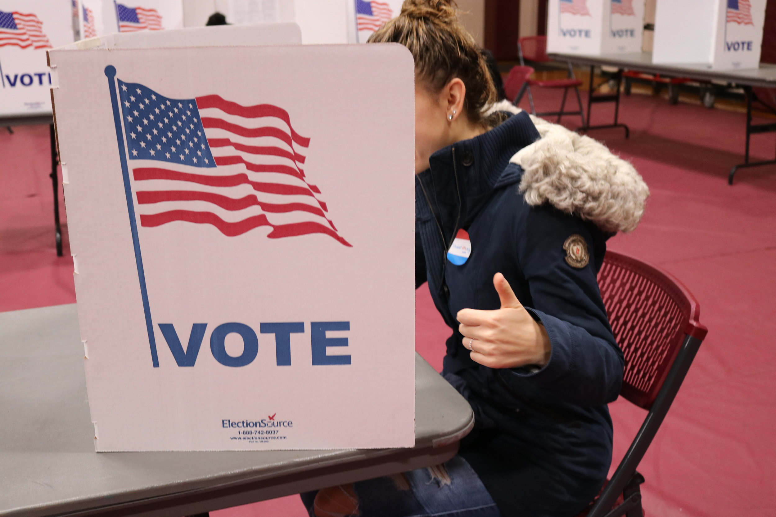 Students were at the polls early and often Tuesday. (Maggie Chafouleas/The Daily Campus)