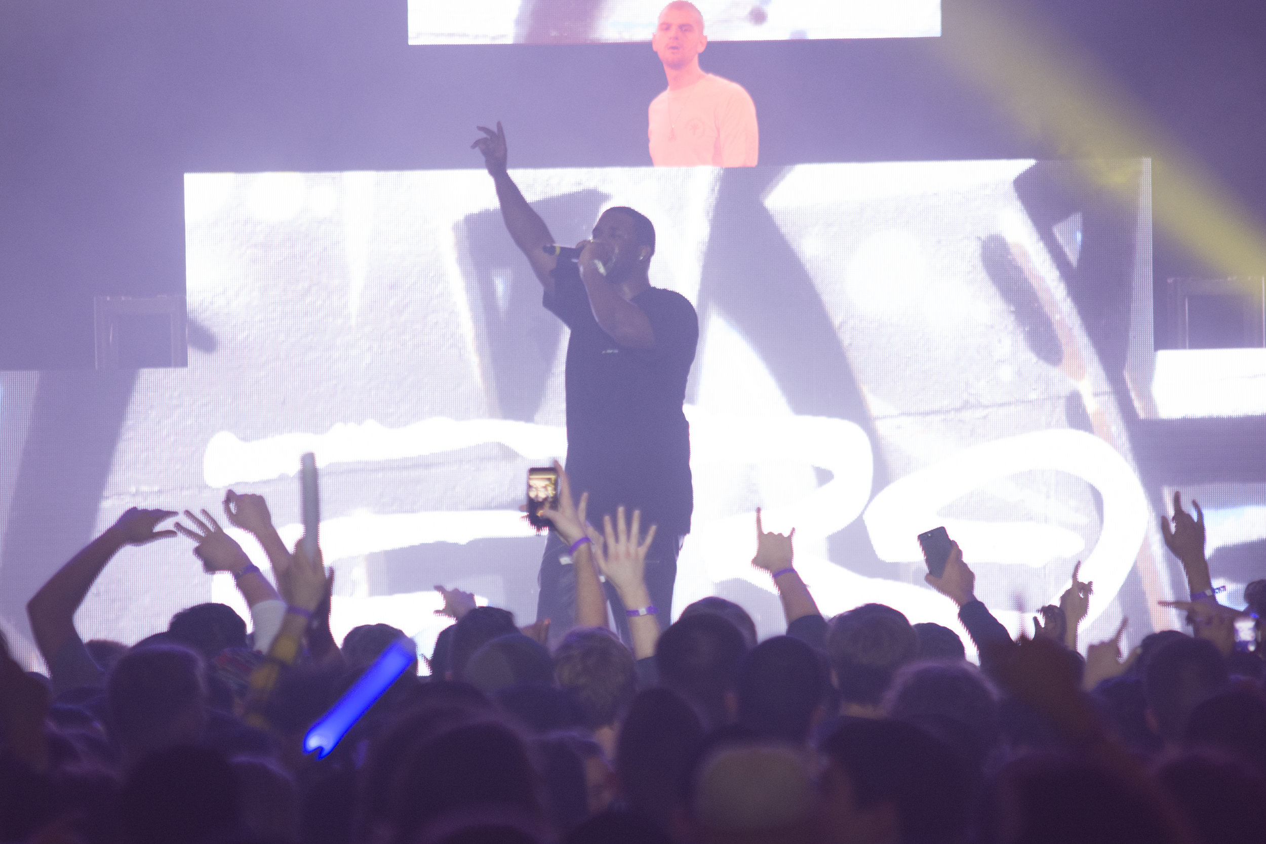 A$AP Ferg preformed in Jorgensen Theater Wednesday night. The theater was filled with students on both the floor and the balcony. A$AP ended the night with his double Platinum song Plain Jane. (Nicholas Hampton/The Daily Campus)