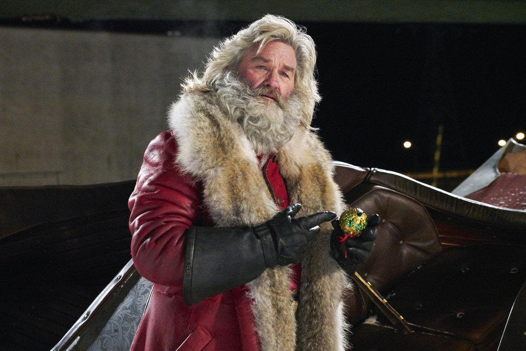 """This image released by Netflix shows Kurt Russell in a scene from """"The Christmas Chronicles,"""" currently streaming on Netflix. (Michael Gibson/Netflix via AP)"""