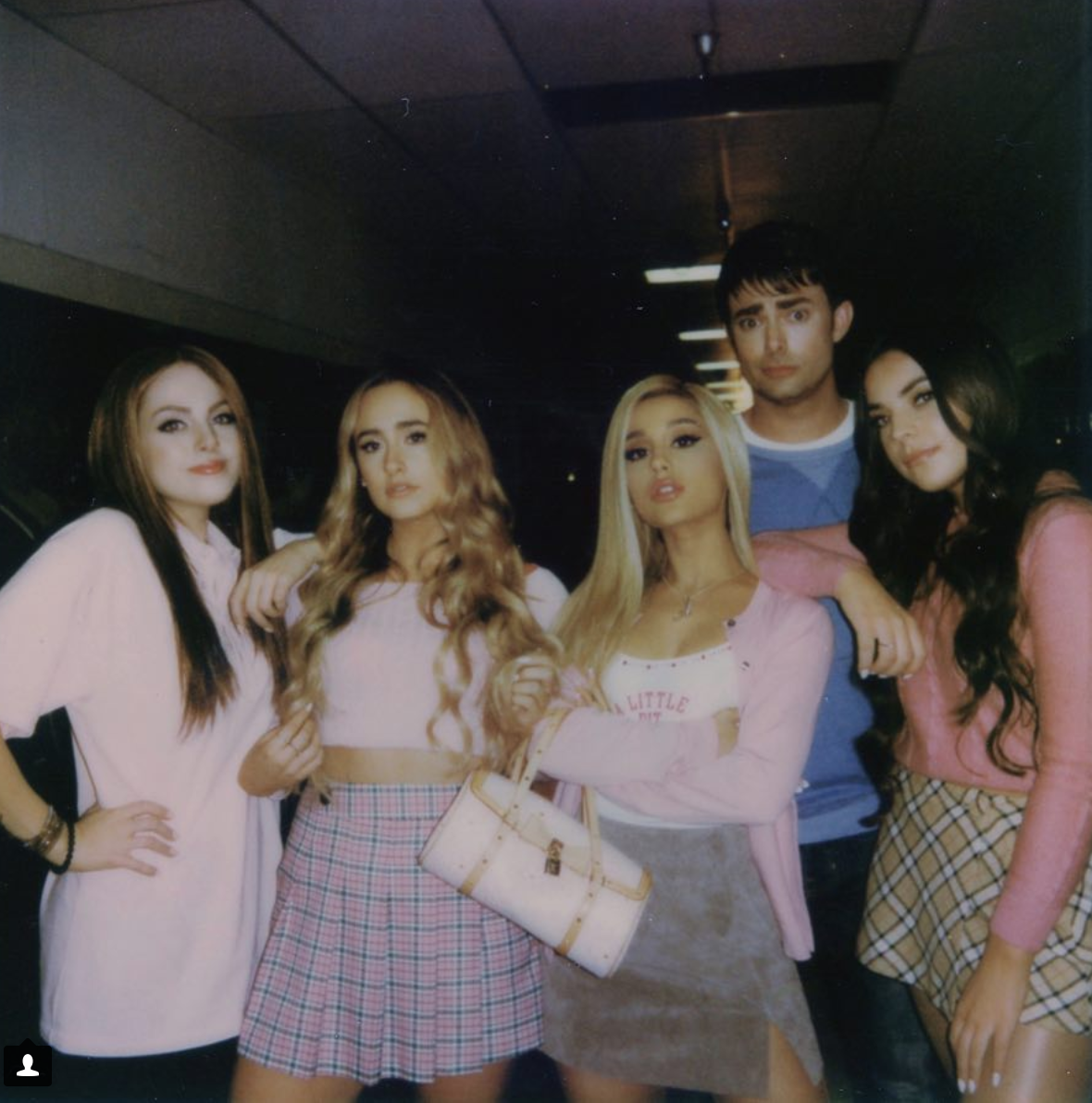 "Ariana Grande's iconic music video for ""thank u, next"" references ""Mean Girls,"" ""13 Going On 30"", ""Bring It On"" and ""Legally Blonde"" as well as featuring some actors who starred in the original movies such as Jonathan Bennett who plays Aaron Samuels in ""Mean Girls."" (@arianagrande/screenshot)"