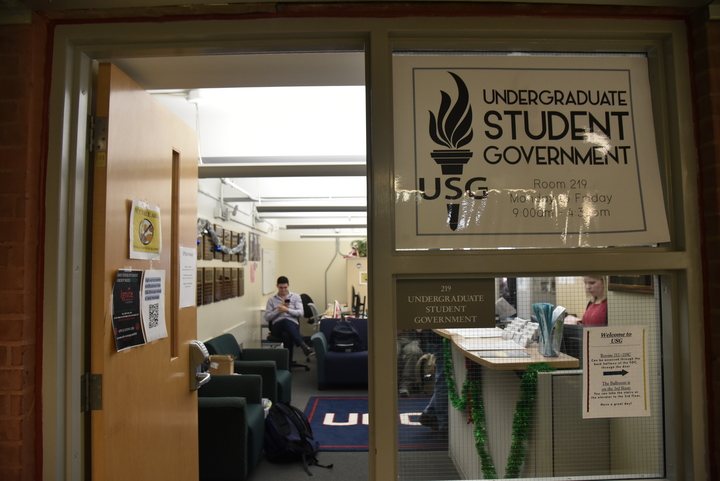 The Undergraduate Student Government is currently working on parking issues, bus schedules and other programs to help benefit students throughout the semester. (Eric Wang/The Daily Campus)