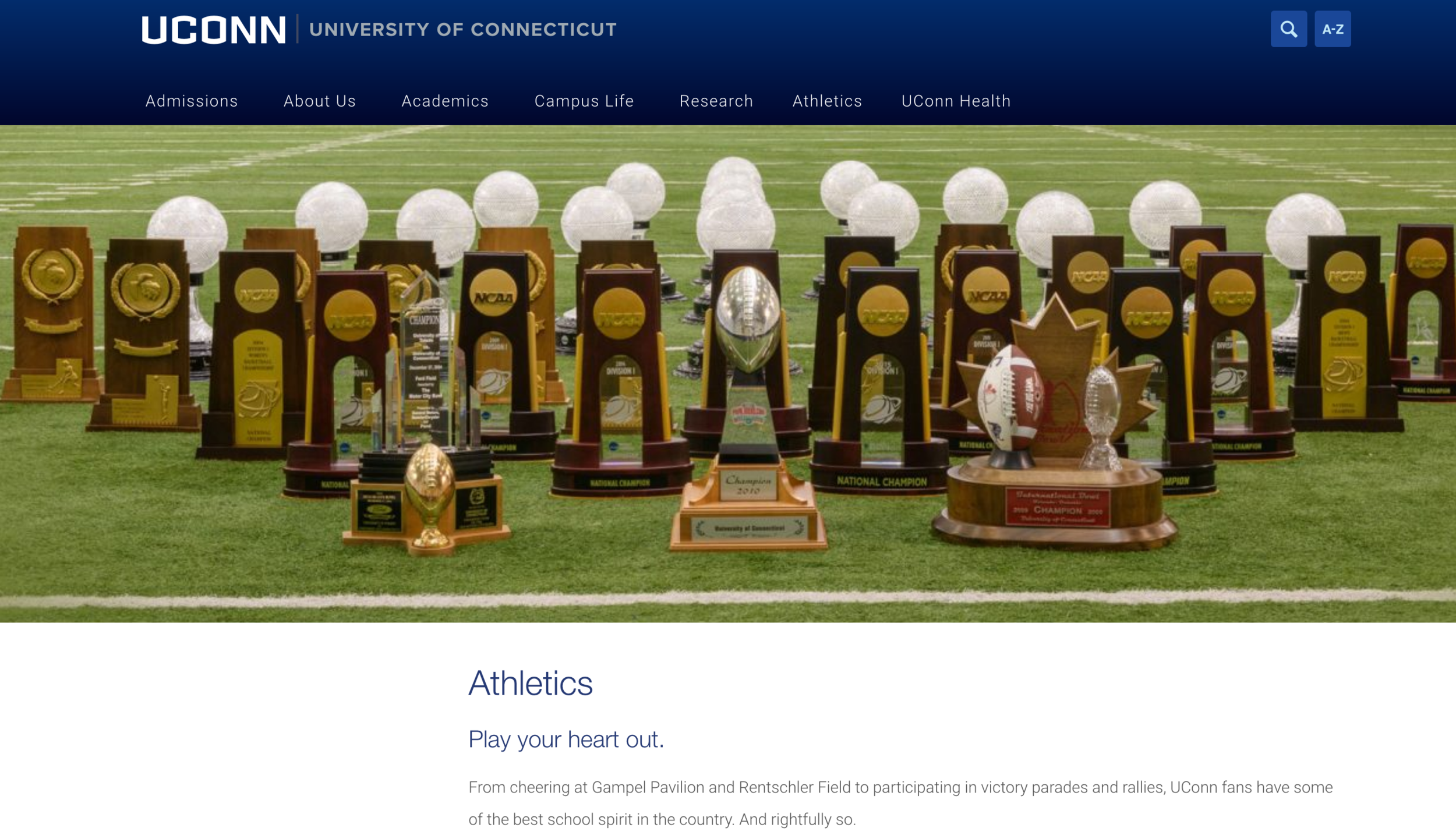 There is no easy way to pull UConn athletics out of the hole it has dug itself into with this absurdly large deficit. However, it is clear that the issue stems from a variety of causes, one of the main ones being the unsuccessful conference that we are currently in. (Screenshot of website)