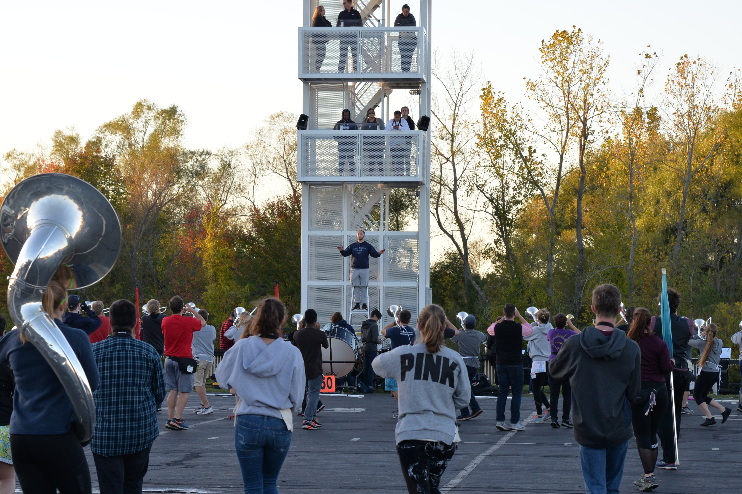 The UConn Marching Band has its biweekly practice up at W Lot on Thursday, Oct. 12, 2017. (File photo/The Daily Campus)