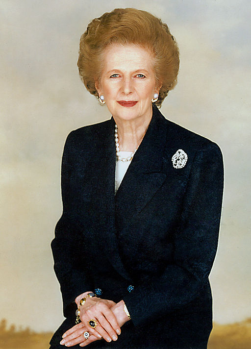 """On Feb. 11, 1975, Margaret Thatcher became the first woman to lead a political party in British history when she was elected head of the Conservative party in Parliament. Known as """"The Iron Lady,"""" Thatcher would become one of the most important figures of the late 20th century, and in 1979 also became the first woman to be elected to the position of Prime Minister. (Public Domain/Wikimedia Commons)"""
