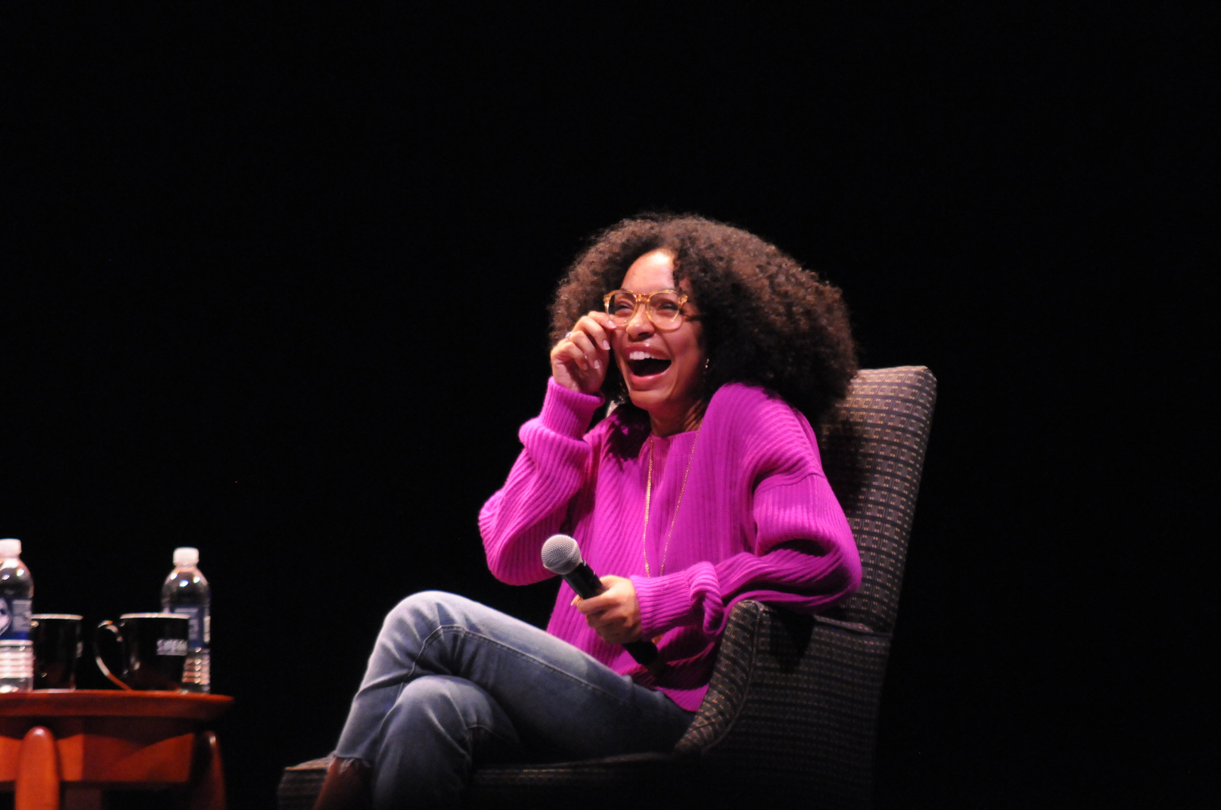 Actress, model and activist Yara Shahidi took the Jorgensen stage Saturday night to share her message of equality and inspiration to University of Connecticut students in a moderated conversation hosted by SUBOG. (Hanaisha Lewis/The Daily Campus)