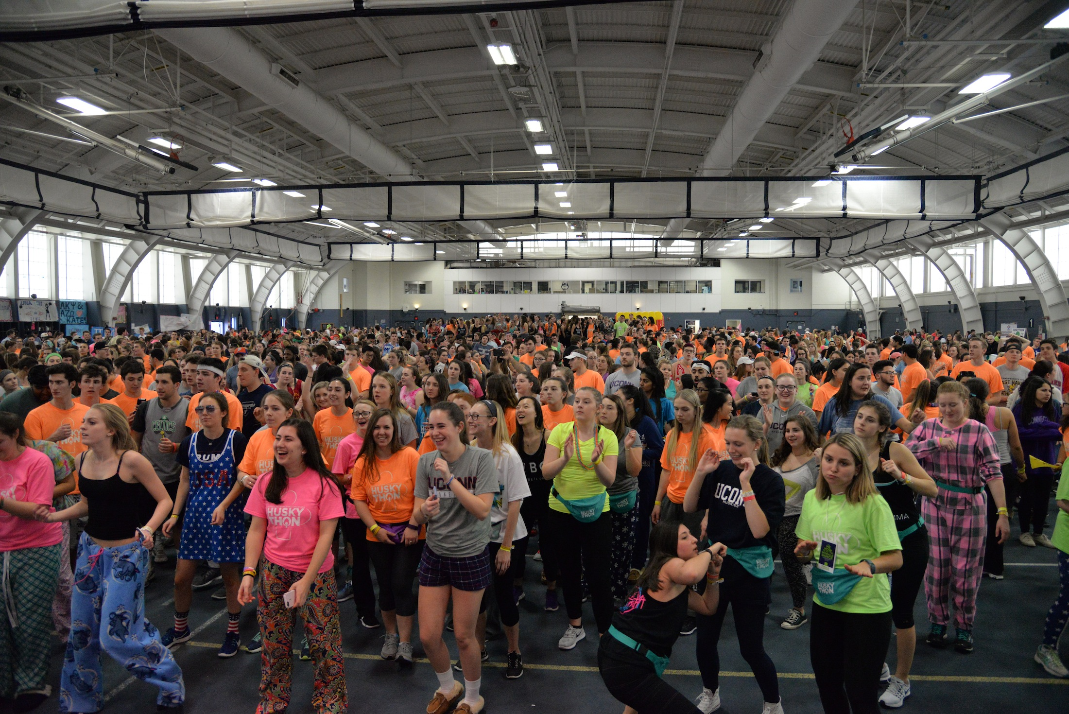 The HuskyTHON team is continuing to raise funds and prepare for the annual HuskyTHON event. (File photo?The Daily Campus)