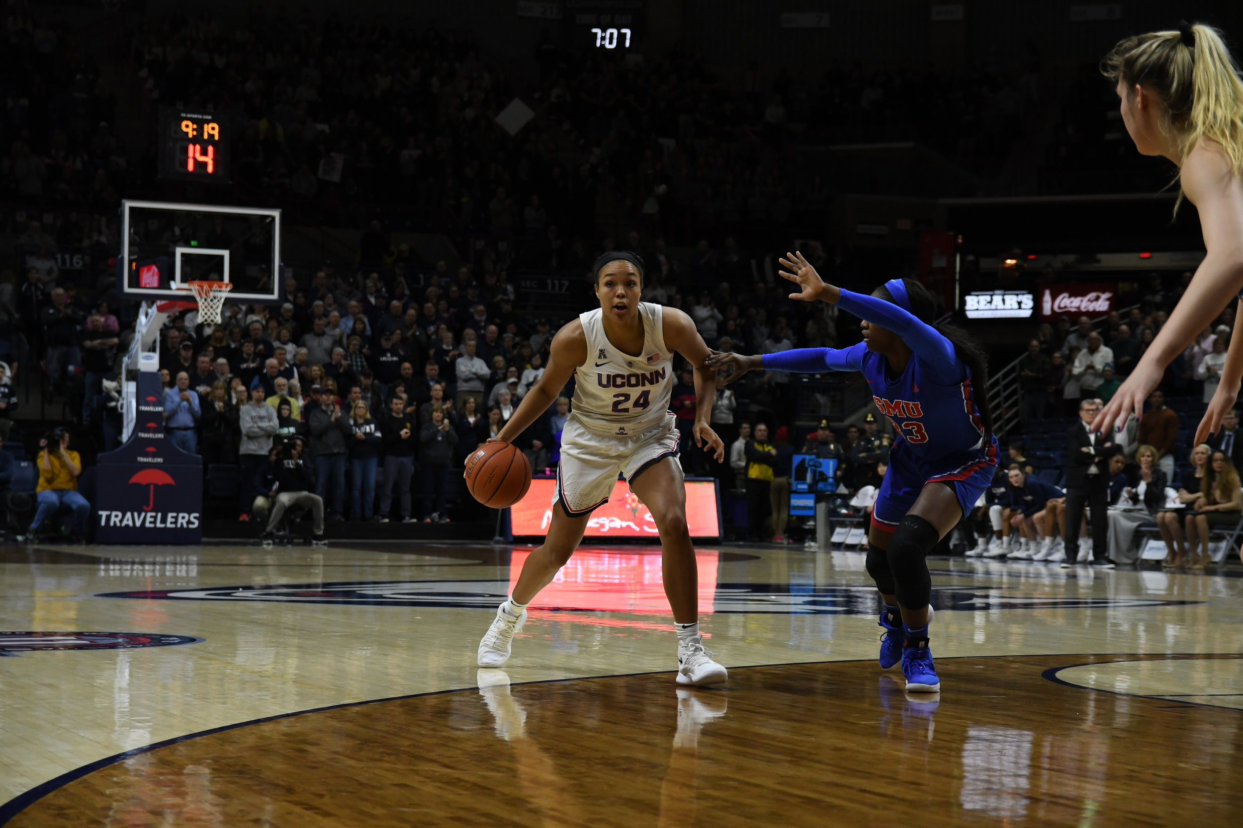 Napheesa Collier named AAC player of the week in her stellar effort against UCF (Photo by Nicholas Hampton/The Daily Campus)