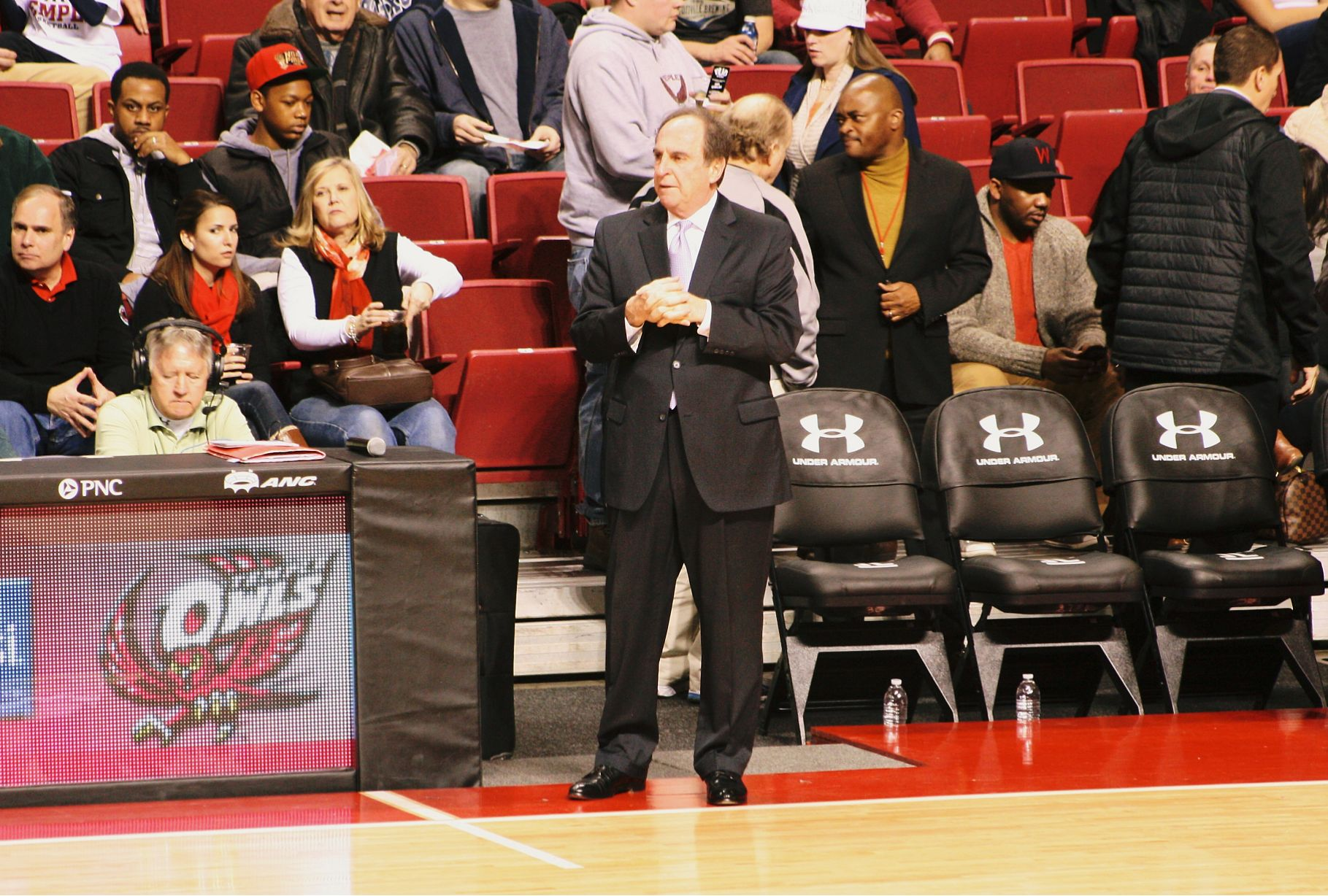 Temple's head coach Fran Dunphy has his team vying for the NCAA Tournament. Photo courtesy of Flickr Creative Commons