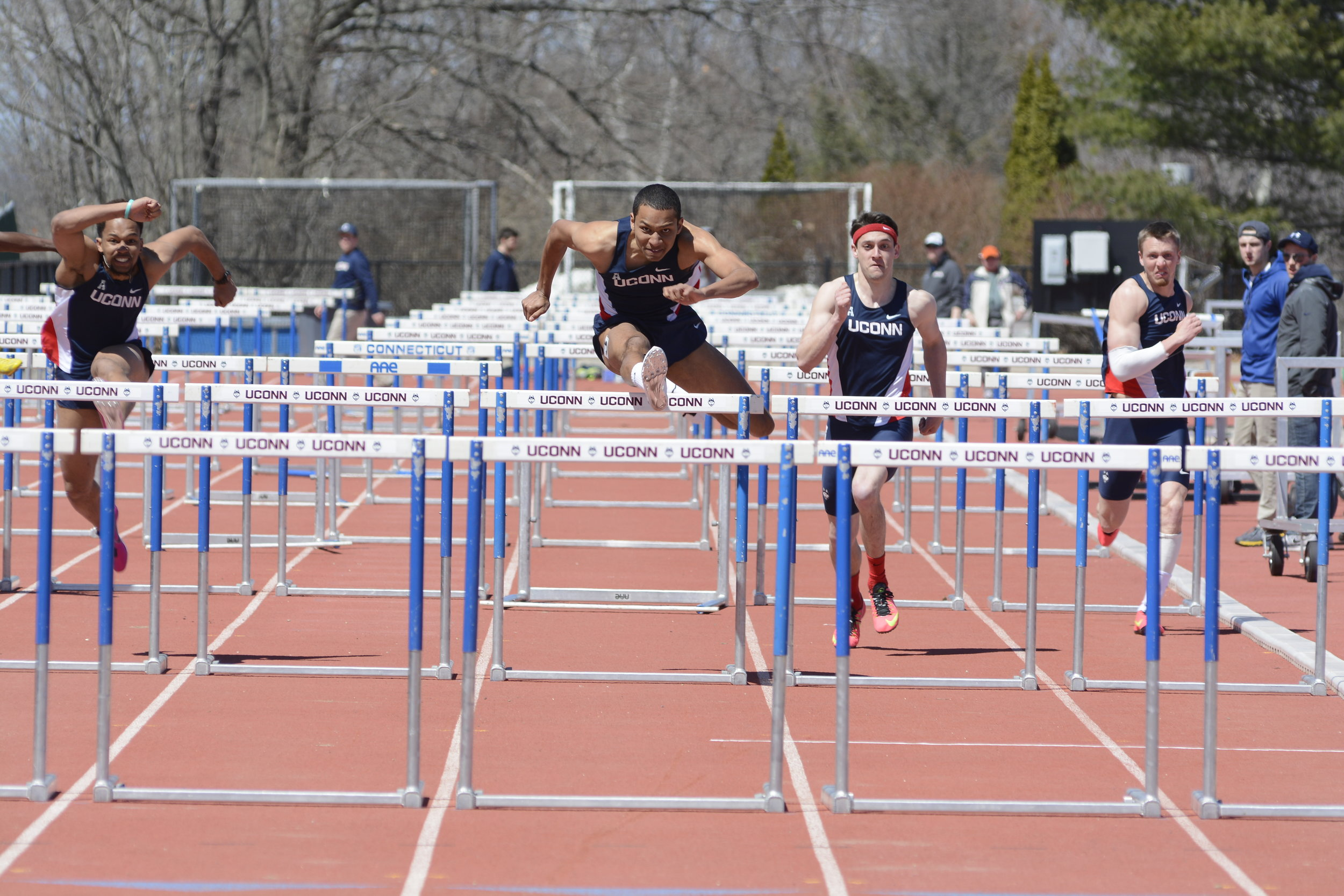 UConn Men's Track and Field. (Photo by Jason jiang/The Daily Campus)