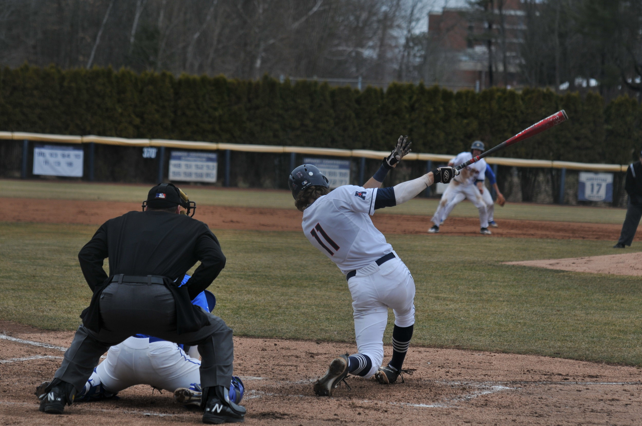 UConn and Hartford step back on the field for the double header on Friday Mar. 31. Pitcher Chase Gardner retired 14 batters in a row, leading to a Huskies victory, 1-0. (Photo by Jon Sammis/The Daily Campus)