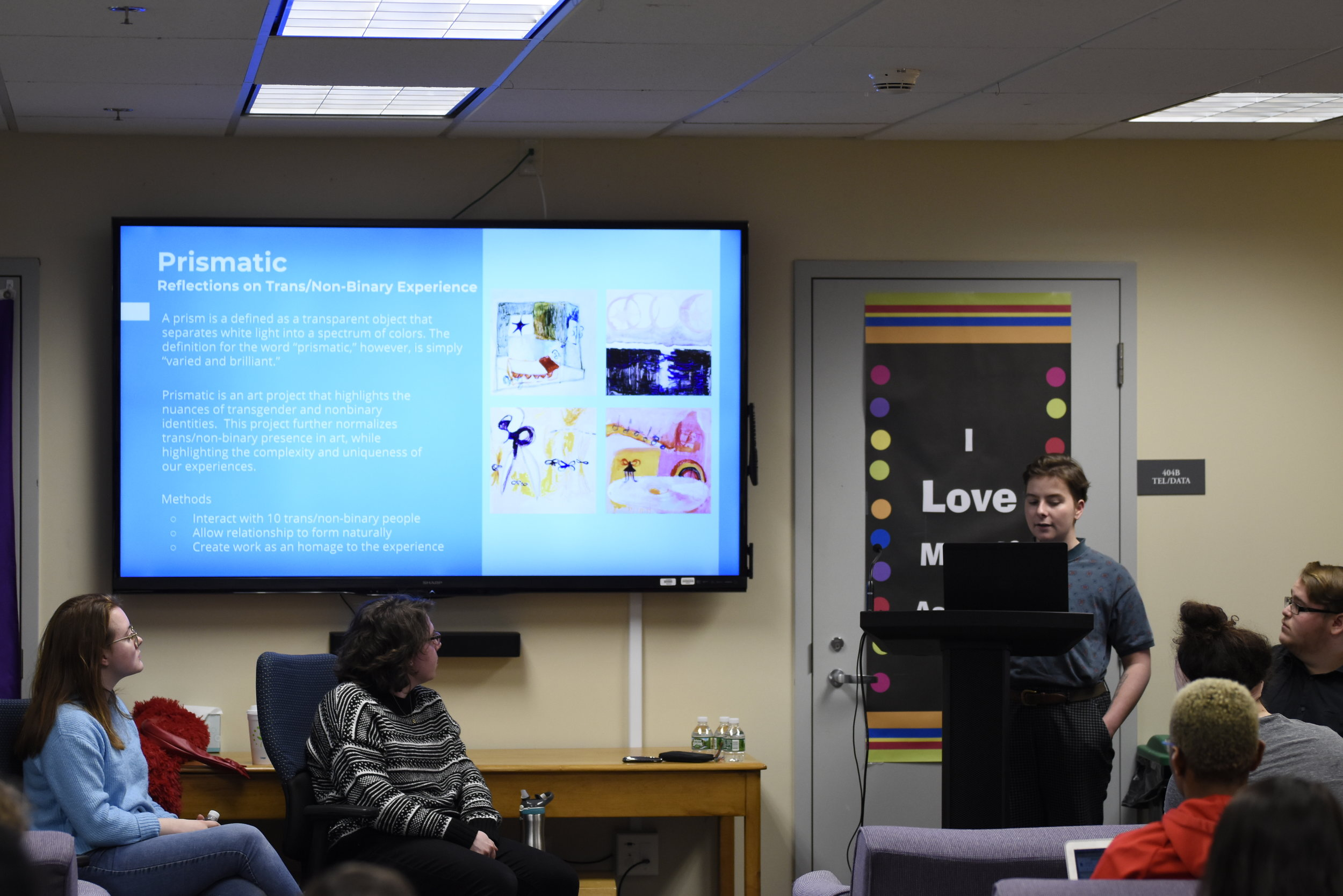 IDEA Grant recipients share their projects and how they create media that is reflective of LGBTQ+ identities. Some of the mediums included were a written novel, film or an art gallery. (Brandon Barzola/The Daily Campus)
