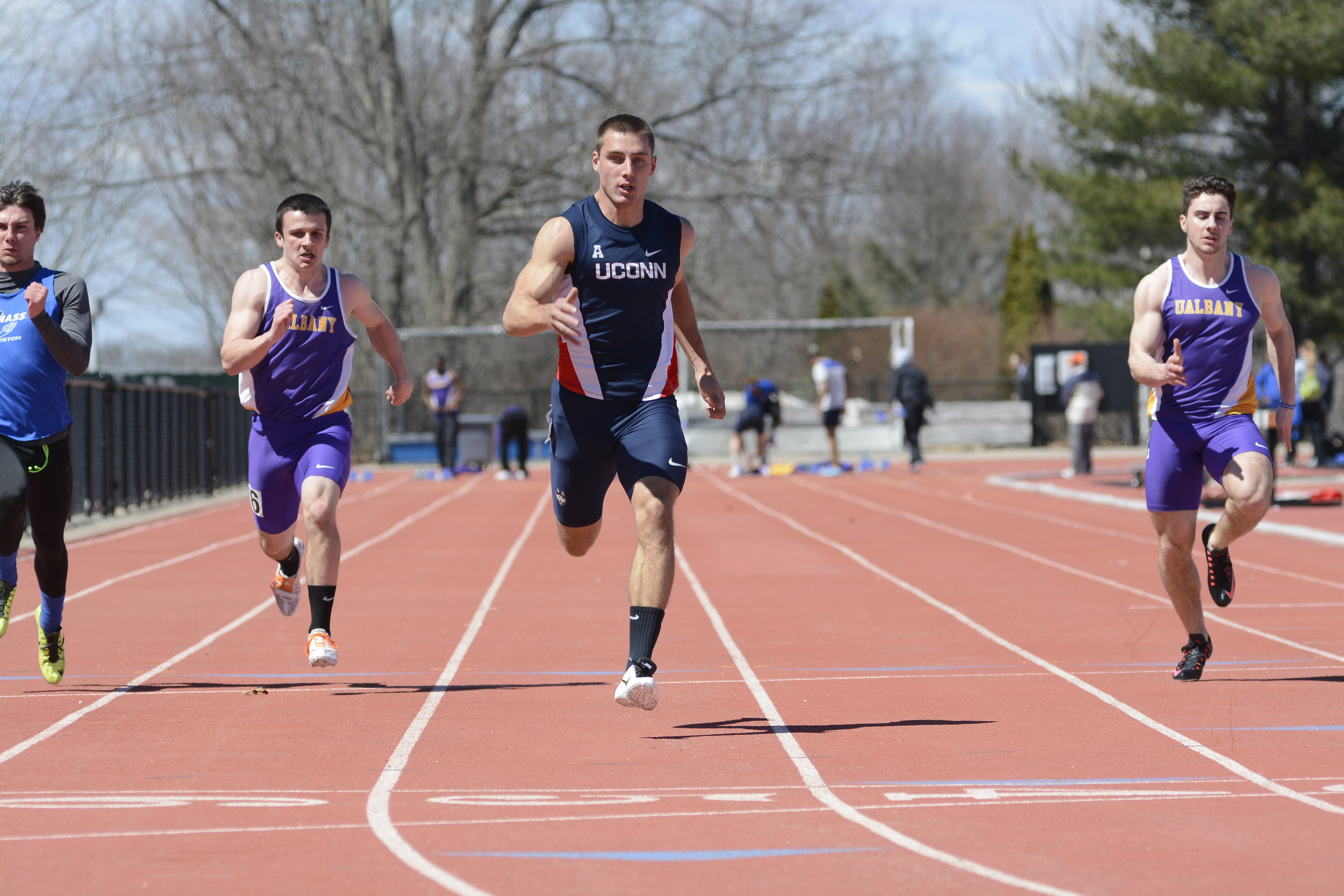 The men's track and field team dominated this weekend in the IC4A Championship at Boston University. (File photo/The Daily Campus)