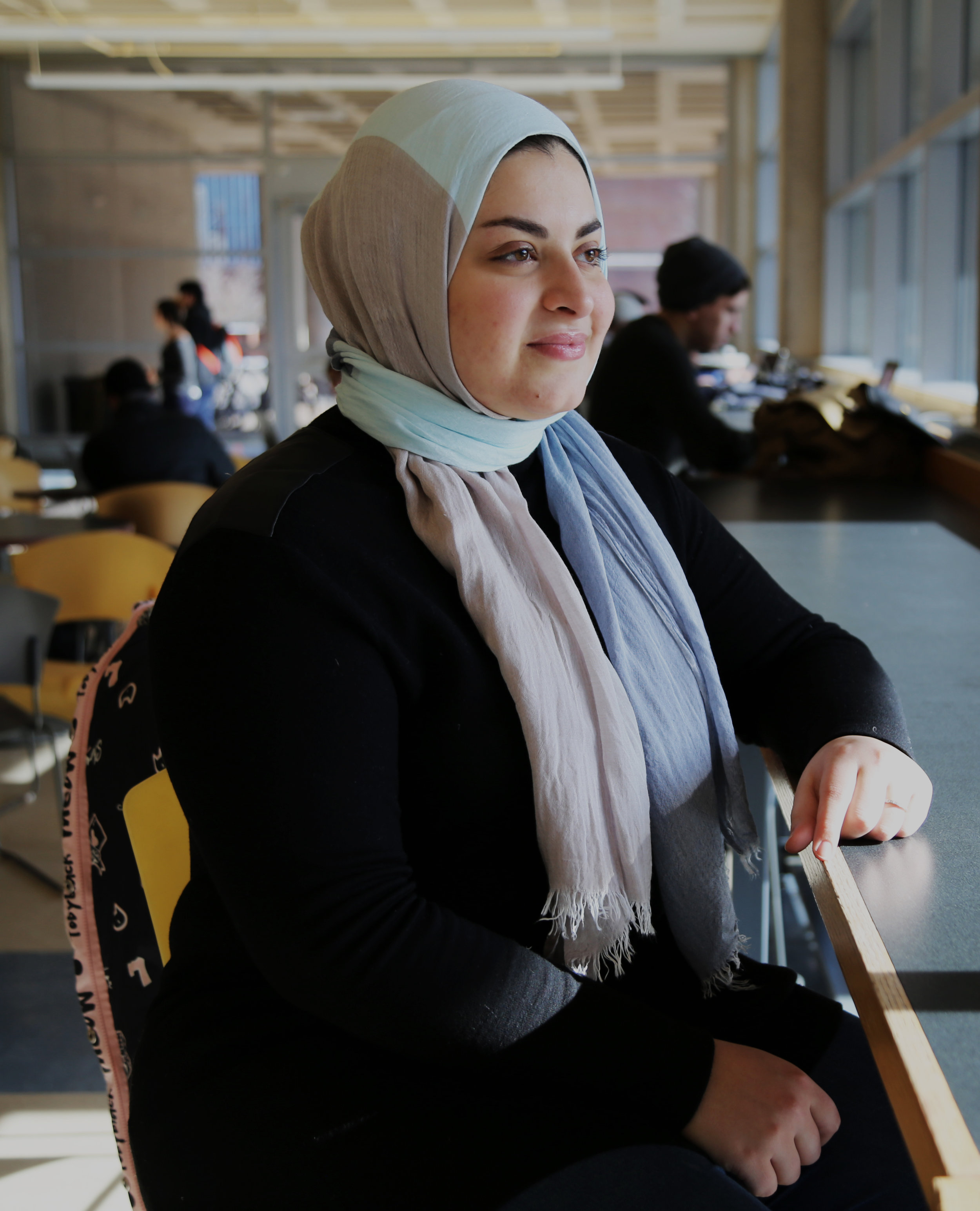 Mennatullah Elfouly, an eighth-semester mechanical engineering major and a member of UConn Muslim Student Association (MSA), said she began to wear a hijab when she was 15 years old. (Photo by Yuanyuan Cao/The Daily Campus)