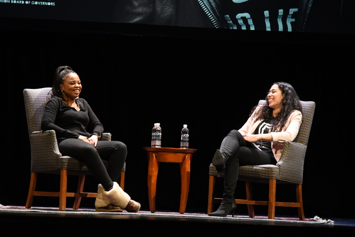 "Now, Hill is a staff writer for The Atlantic covering ""issues related to sports, race, and politics, and culture,"" according to The Atlantic. Hill will also be debuting a podcast titled ""Unbothered"" on Spotify, April 8th. (Julie Spillane/The Daily Campus)"