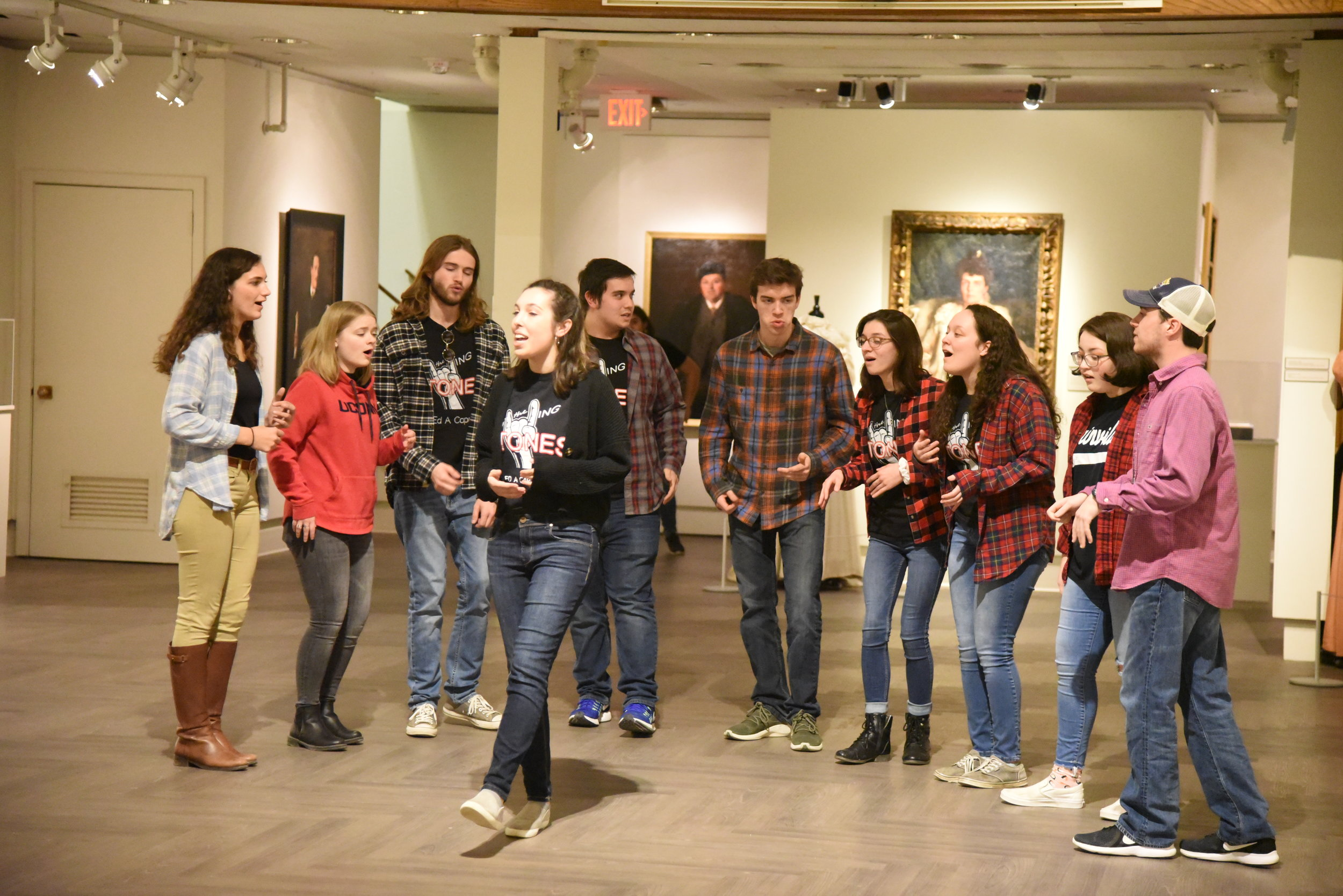 For this month, the Benton welcomed two Acapella groups, the Rolling Tones and Rubyfruit, for performances and offered many fun activities such as a photo booth and a scavenger hunt. (Kush Kumar/The Daily Campus)