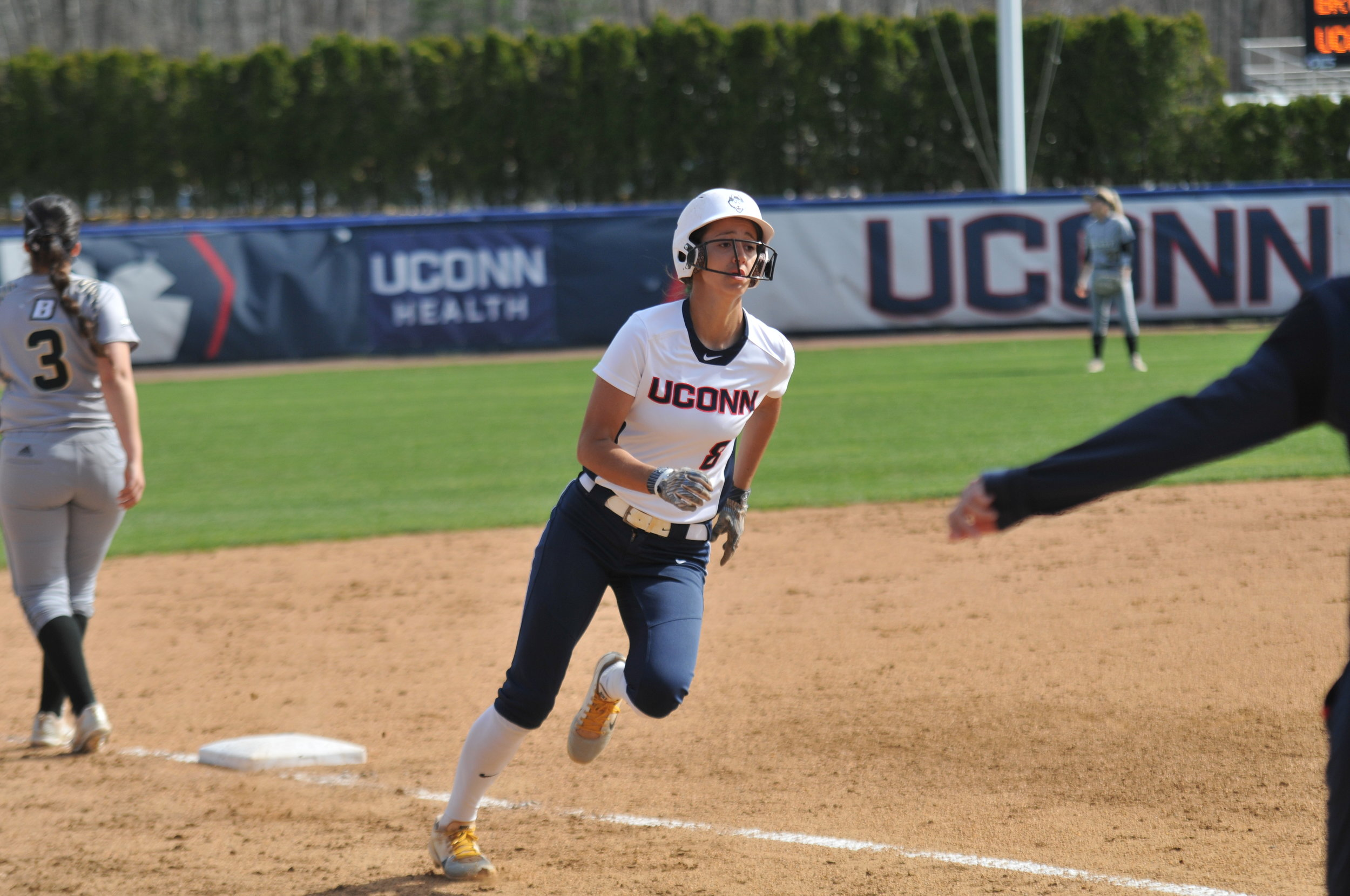 UConn hosts Bryant University for their mid-week game at the Burrill Family Field on Tuesday, Apr. 24. The Huskies cruised to a 4-1 win over the Bulldogs, leading to their second mid-week victory. (photo by Jon Sammis/The Daily Campus)