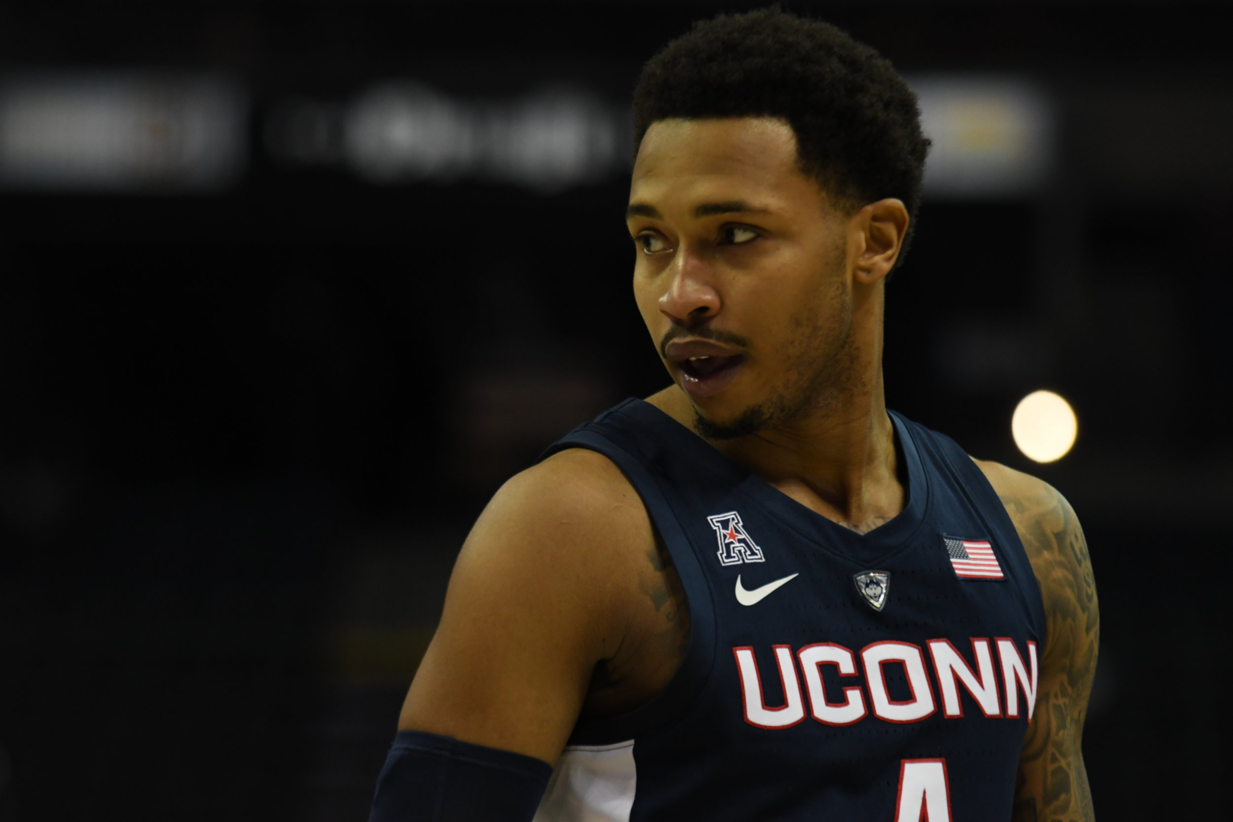 Jalen Adams has remained a constant in the UConn program for the past four years. (Judah Shingleton/The Daily Campus)