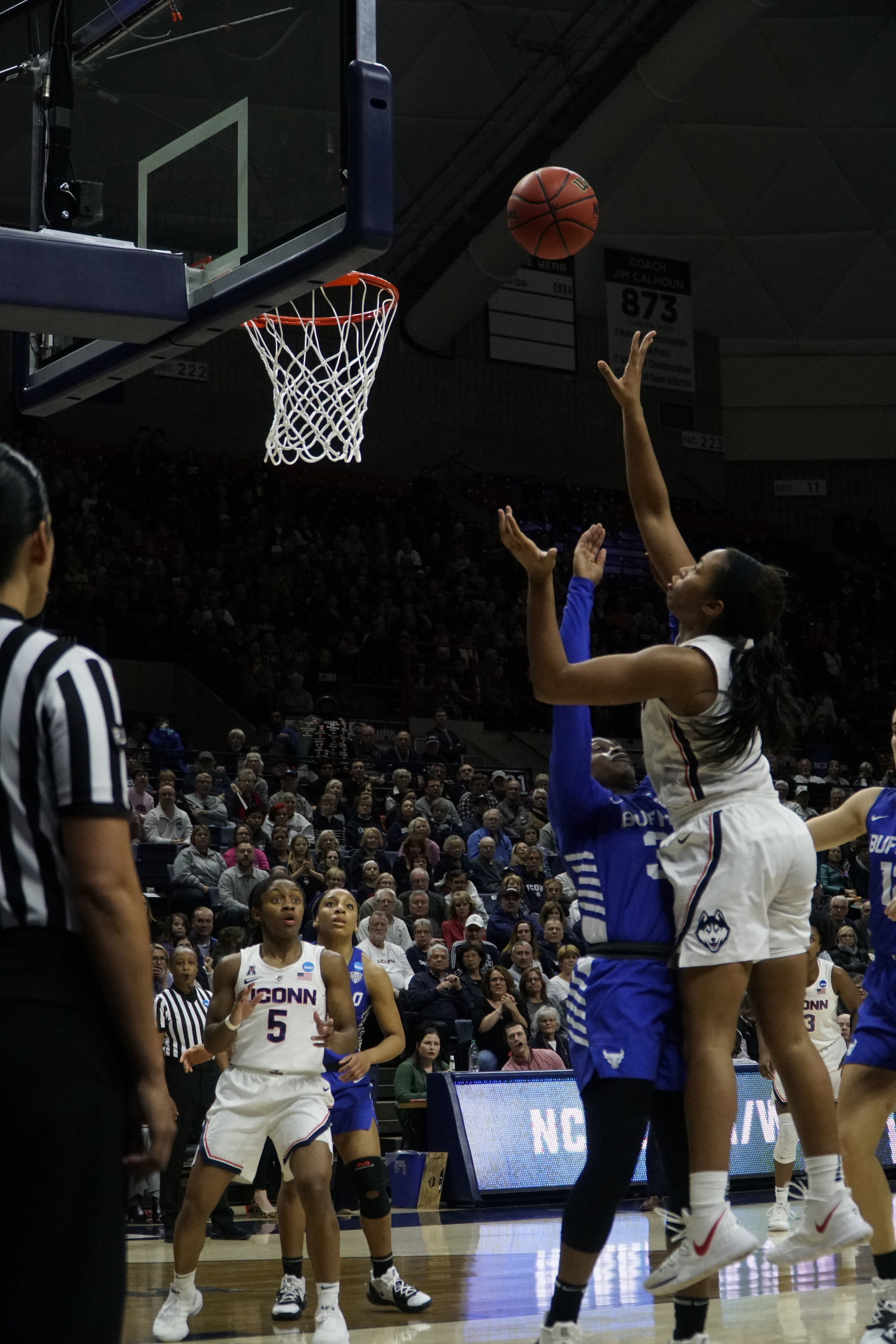 The Huskies need Megan Walker to play her best in order to help secure their 12th National Championship (Photo by Eric Wang/The Daily Campus)