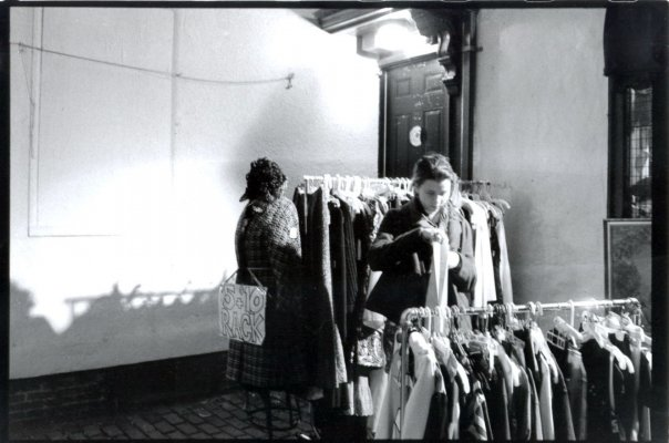 Depending on the thrift store, they might buy some of your old clothes off of you. Some give store credit, and some will give you a percentage of the money they get for selling your clothes. ( elise.y/Flickr Creative Commons )