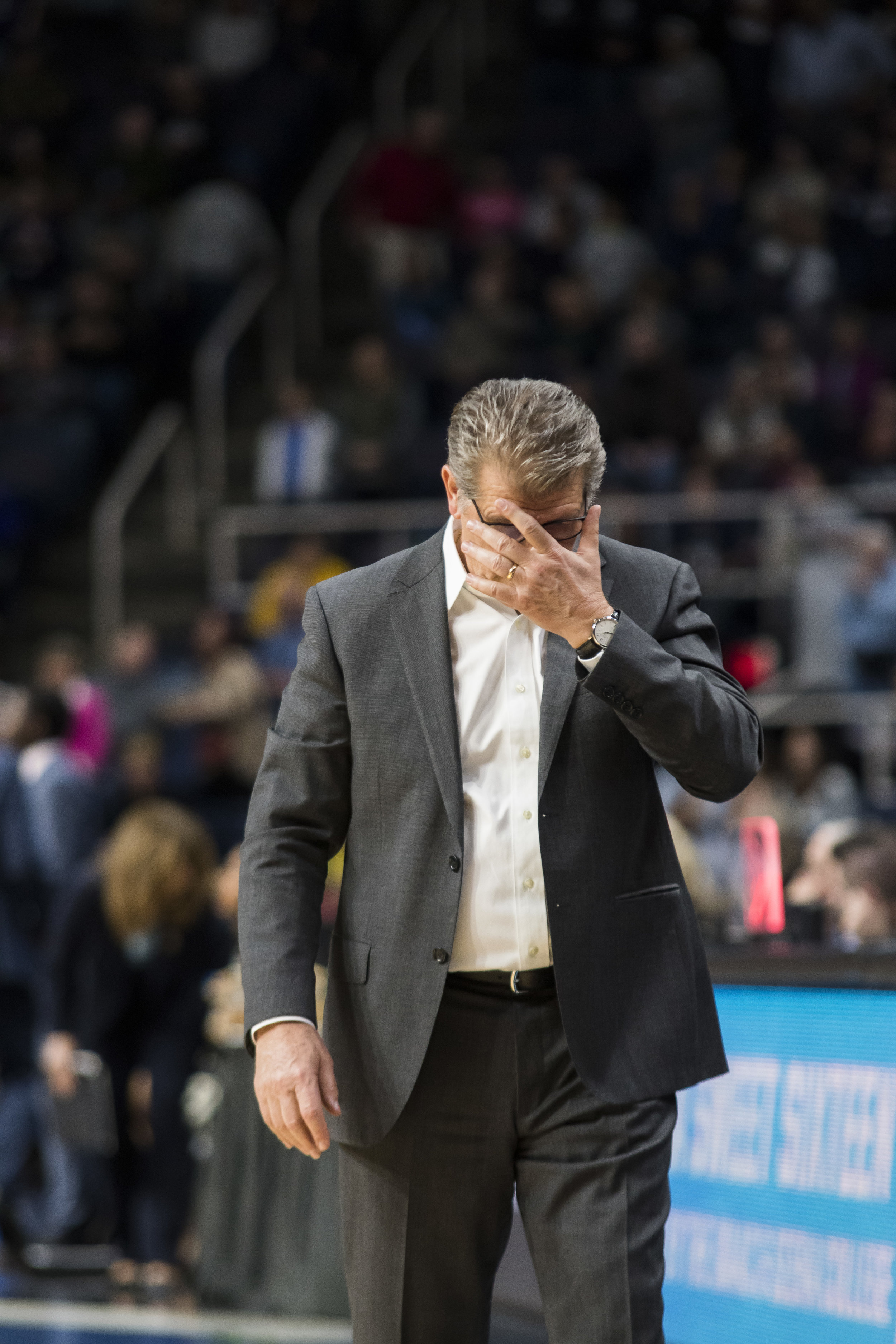 Geno Auriemma and Jeff Walzs' team's will battle it out for a spot in the Final Four. Photo by Eric Wang/The Daily Campus