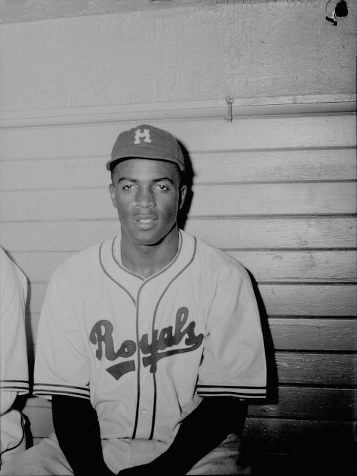 On April 11, 1947, Jackie Robinson became the first African American player in Major League Baseball history when he played in an exhibition game for the Brooklyn Dodgers. (Public Domain/Wikimedia Commons)