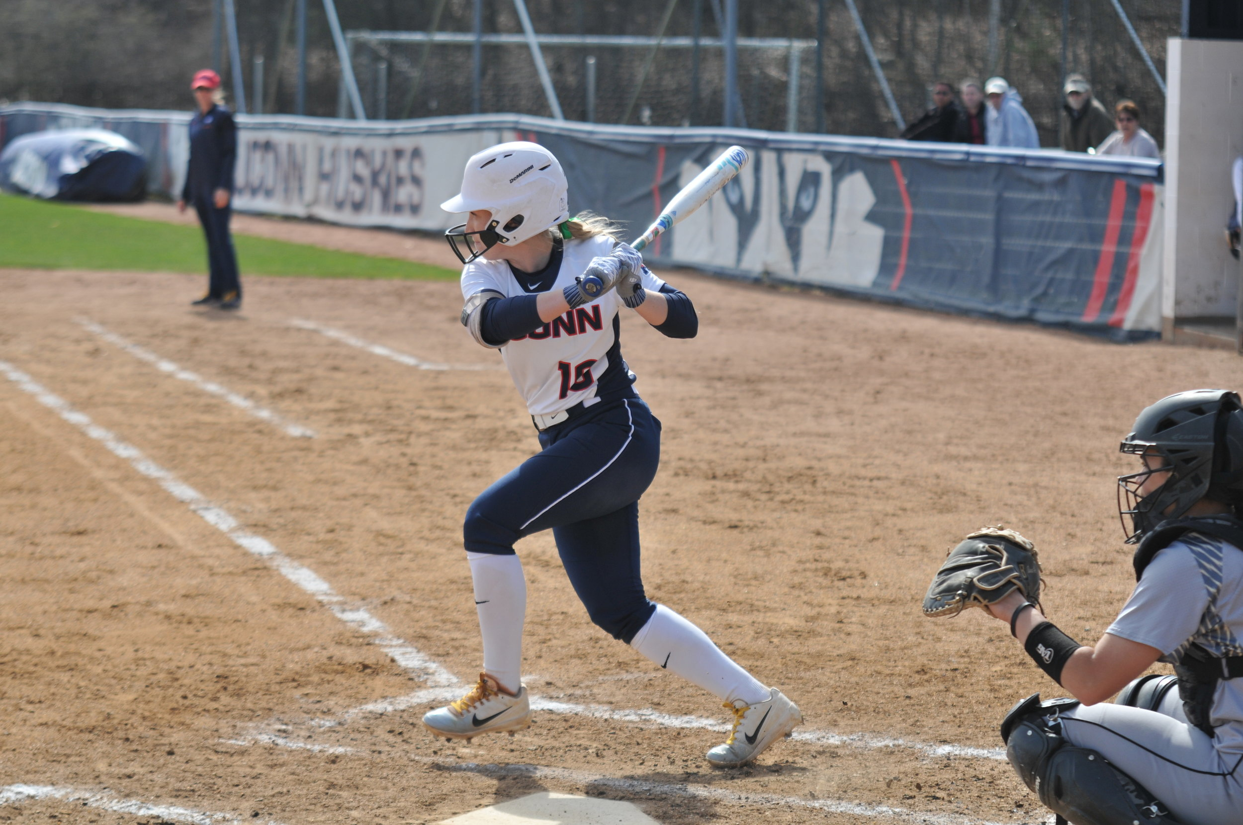 Olson appeared in all three games this weekend for the Huskies, tossing 15 innings and giving up six runs — five earned — on nine hits. (File photo/The Daily Campus)