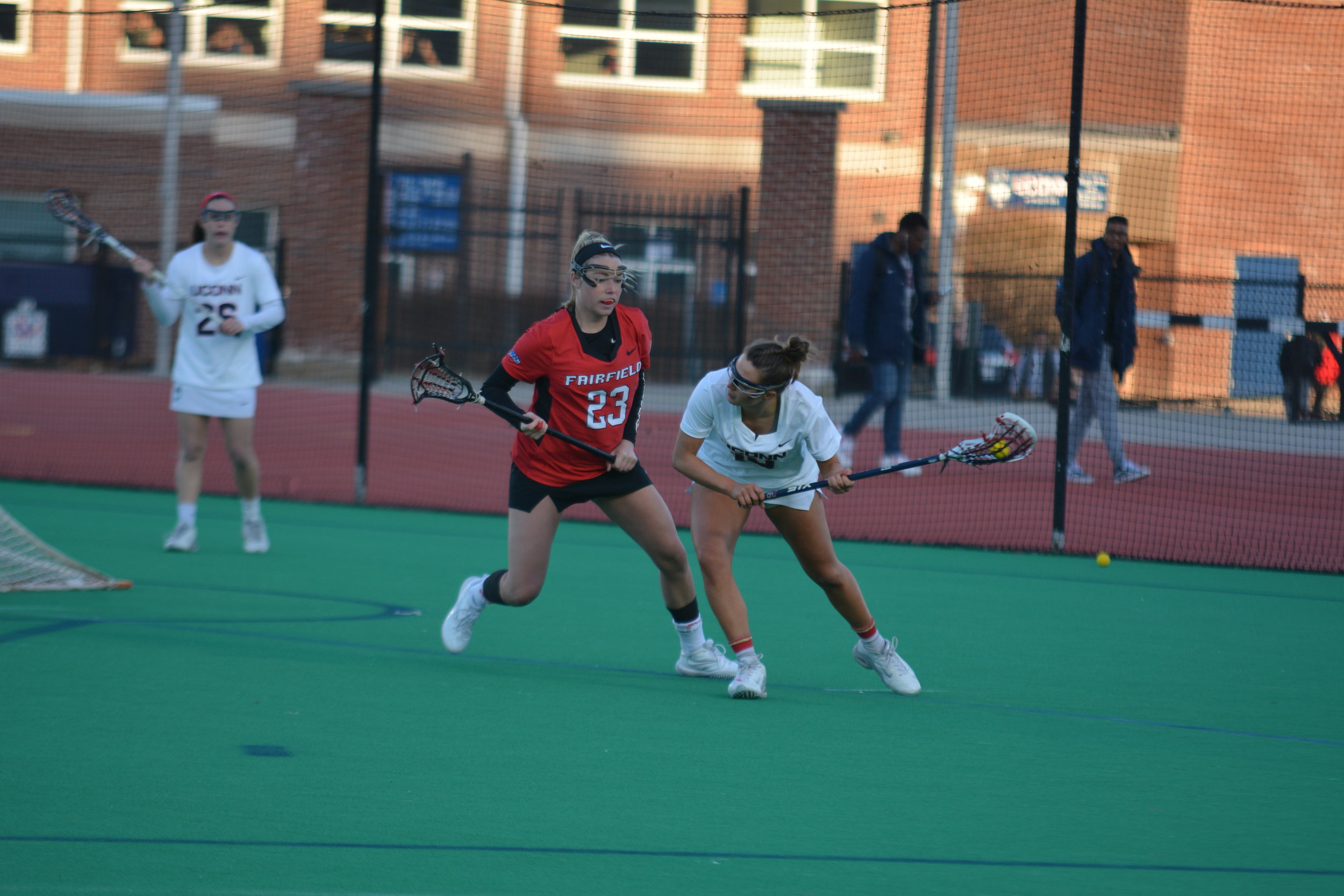 UConn hit the 13-goal threshold for the fourth time this season on Saturday, yet surprisingly they are just 1-3 in those games. (File photo/The Daily Campus)