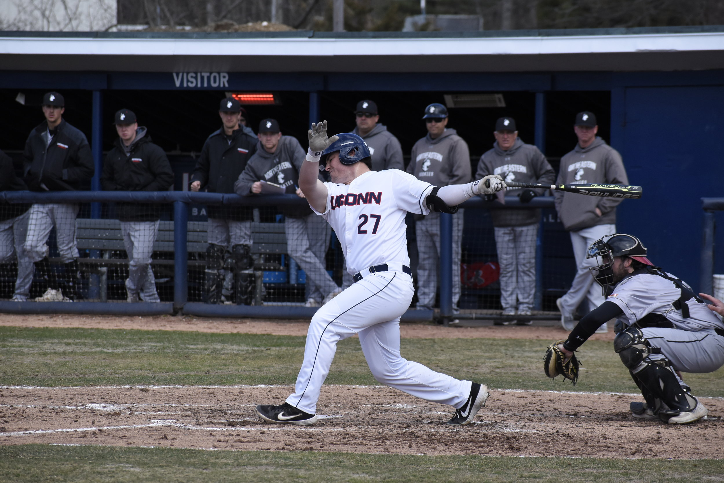 The UConn baseball team was able to bounce back to win each midweek game.   Photo by Brandon Barzola/The Daily Campus