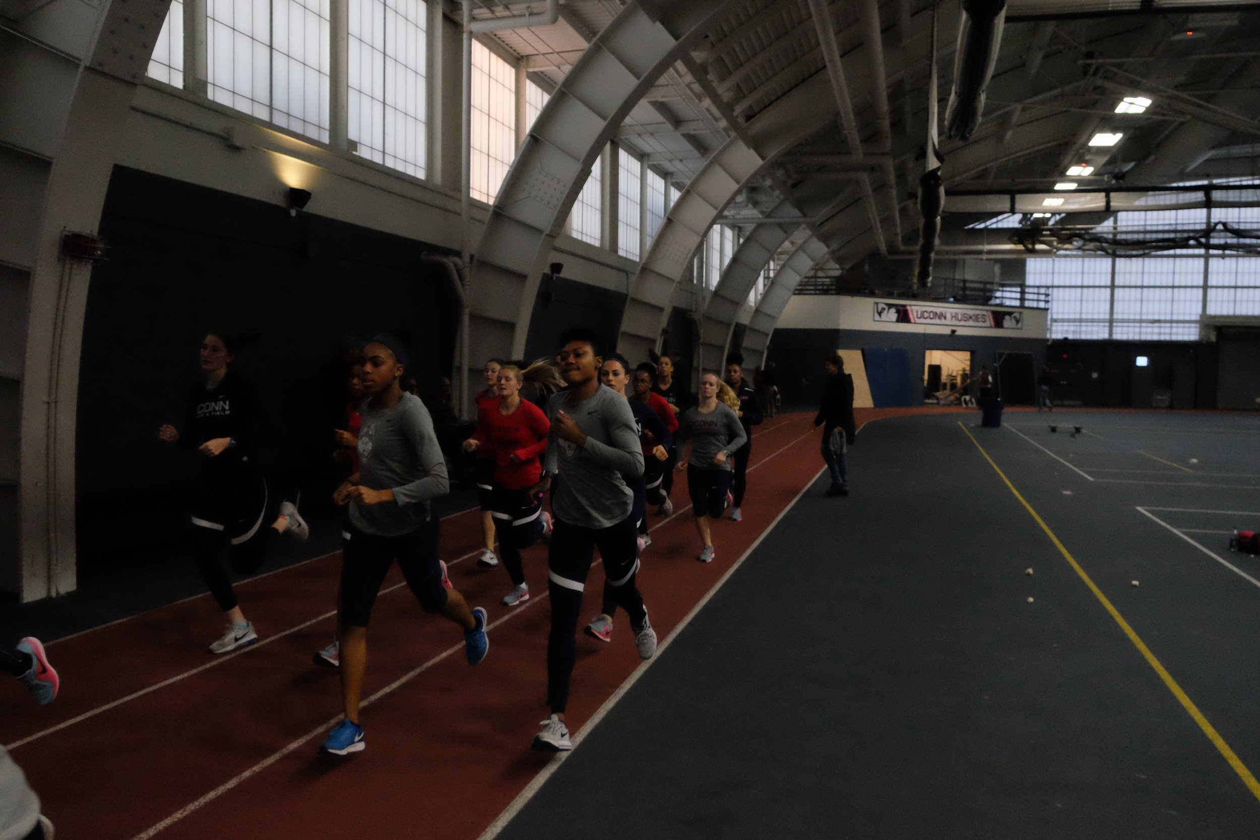 The University of Connecticut held a two day men's track heptatholon Thursday Dec. 7. Several events, like the high jump, 60 meter hurtles, and several others being held on Friday Dec. 8. (Photo by Jon Sammis/The Daily Campus)